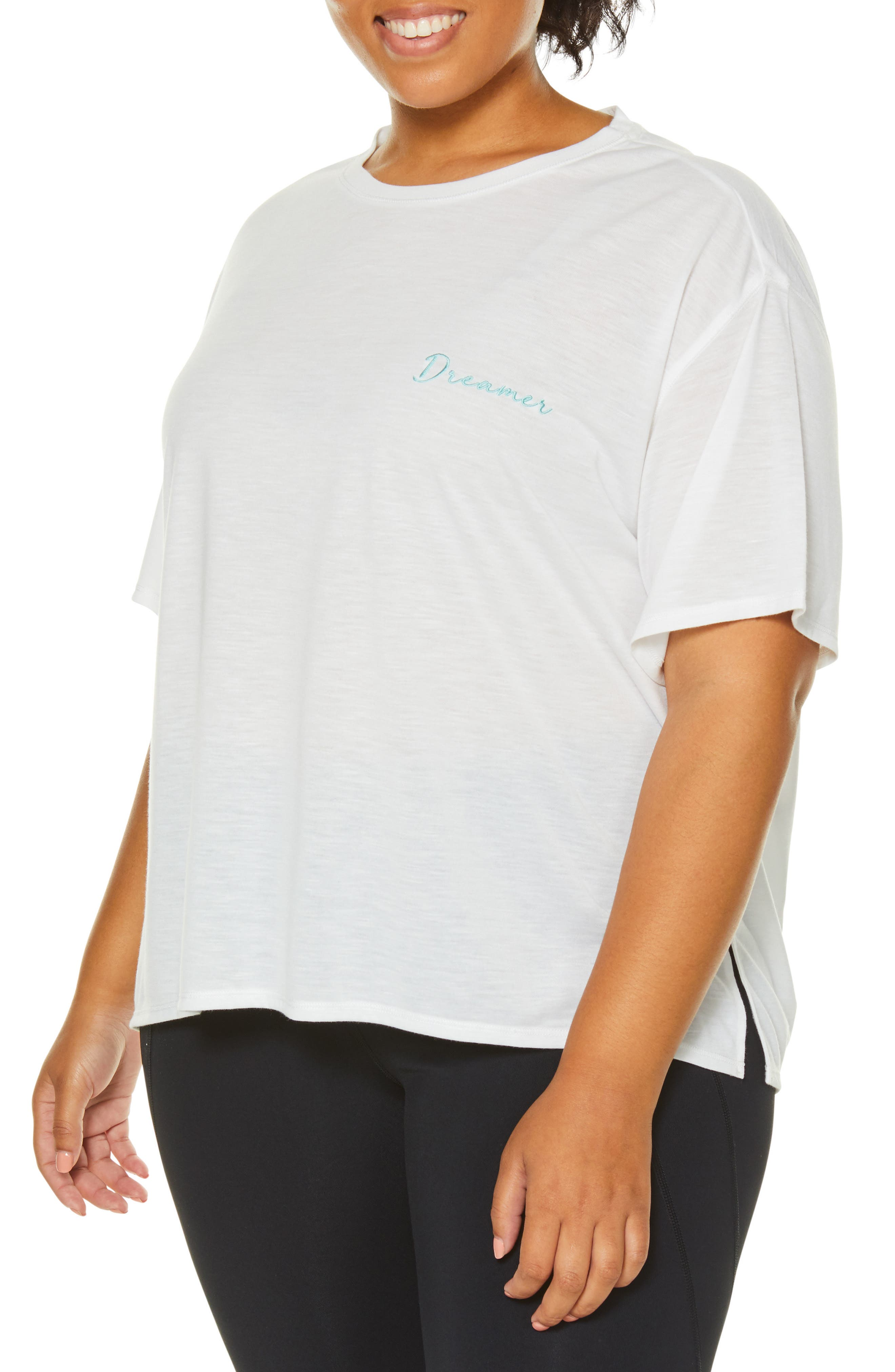 Plus Size Shape Activewear Captivate Tee, White