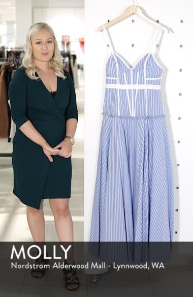 Morrow Stripe Corset Gown, sales video thumbnail