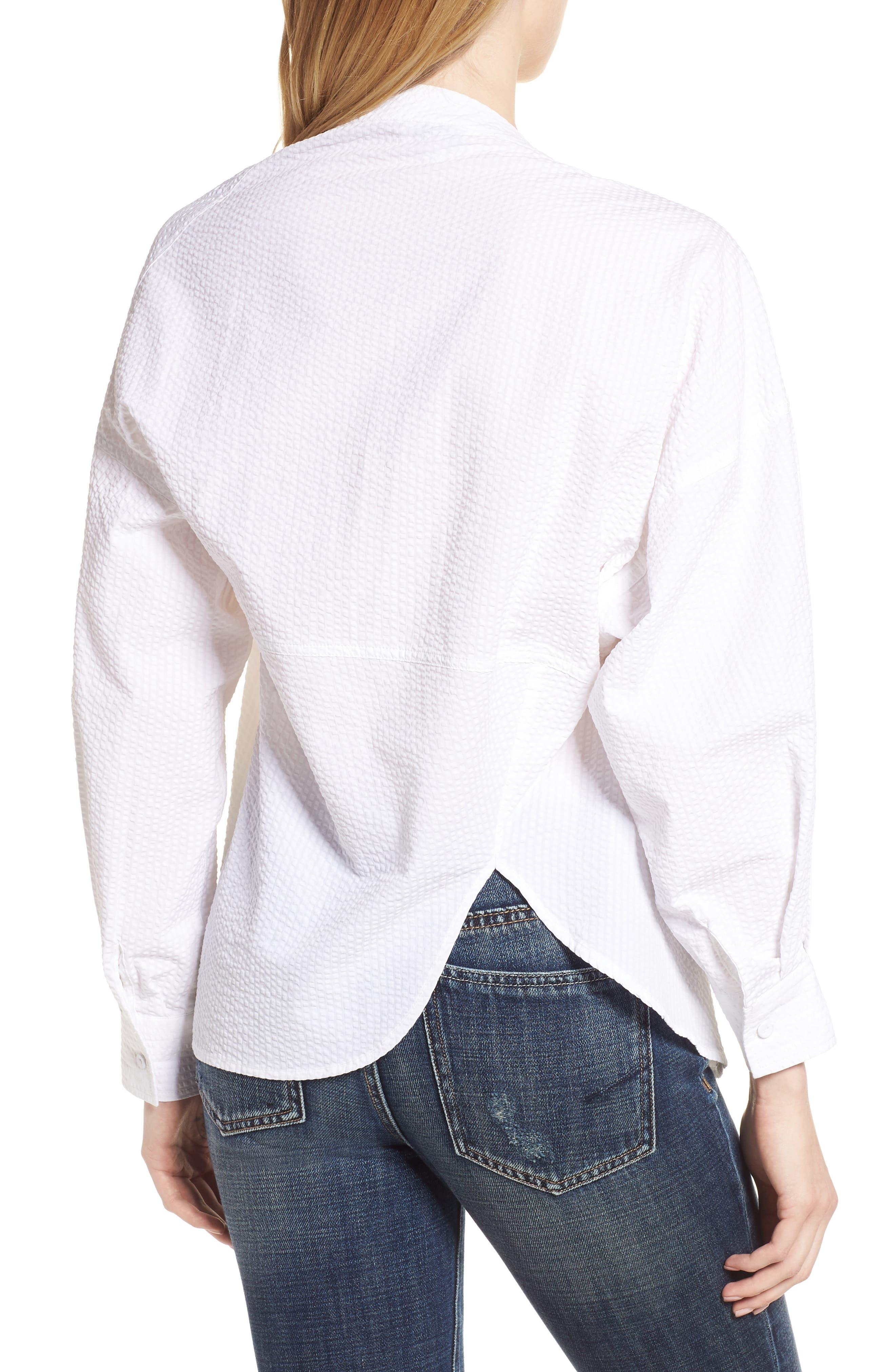 Daphne One Shoulder Cotton Top,                             Alternate thumbnail 2, color,                             150