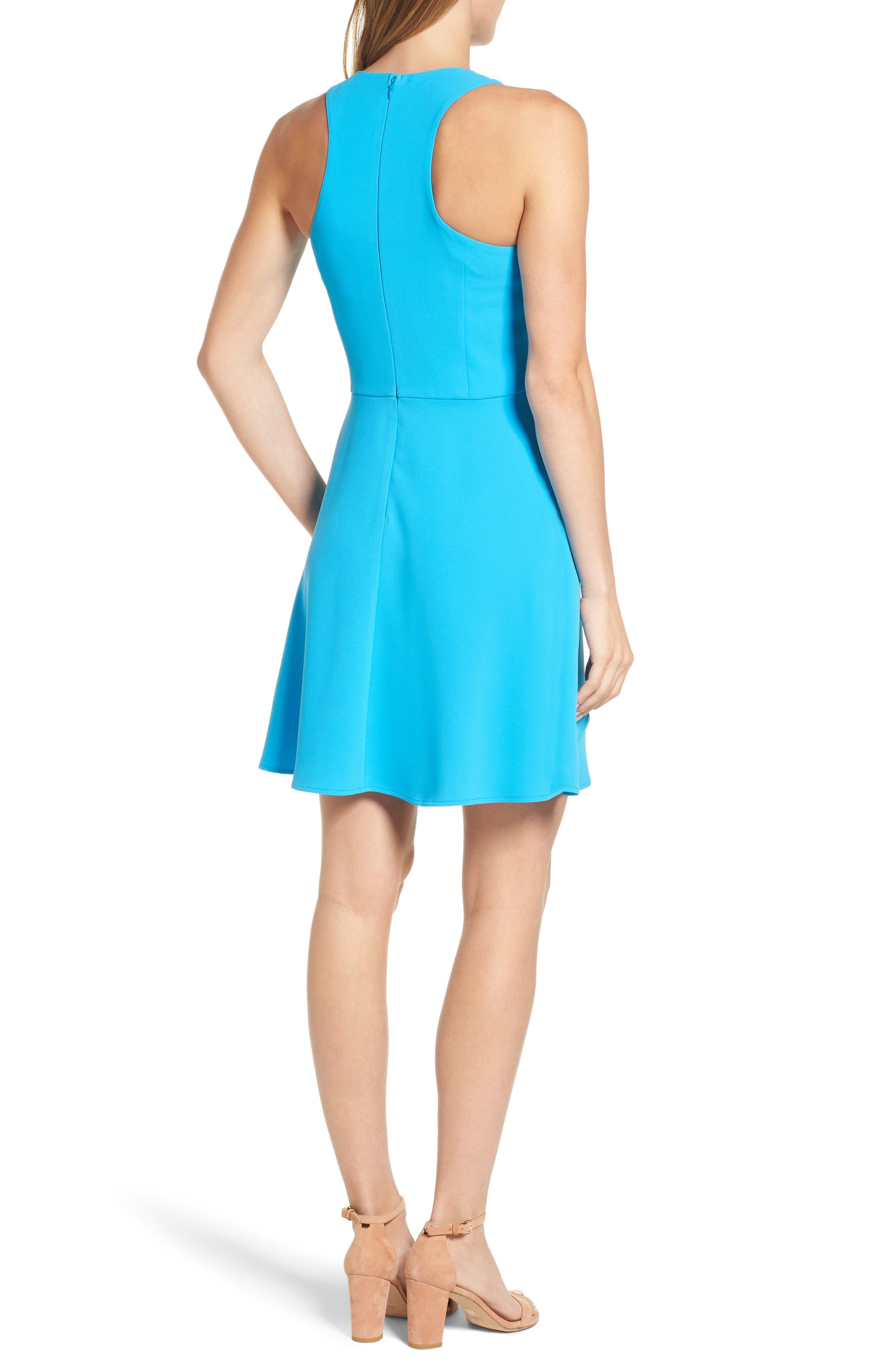 Athena Fit & Flare Dress,                             Alternate thumbnail 7, color,