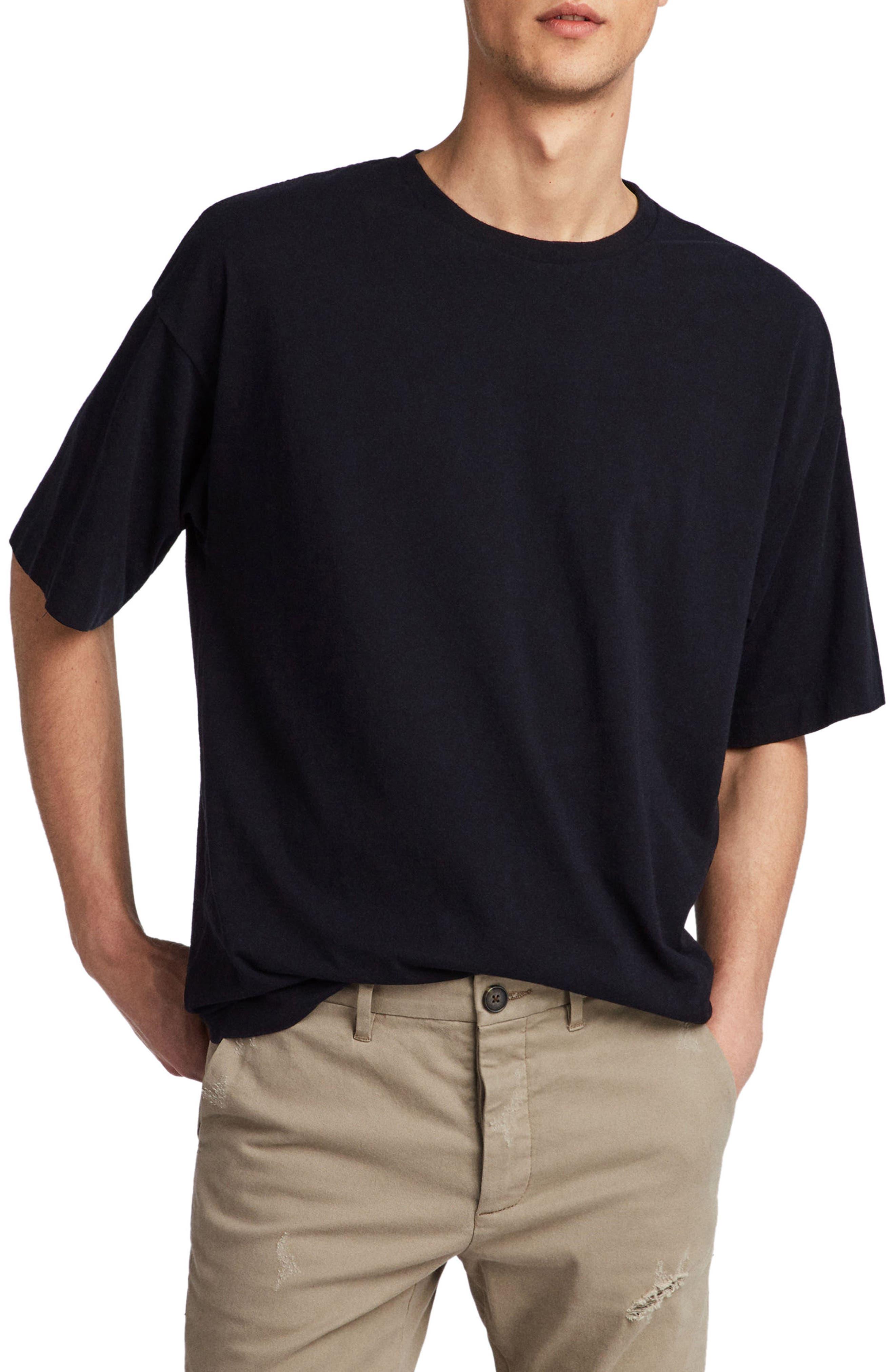 Atnom Crewneck T-Shirt,                         Main,                         color, JET BLACK