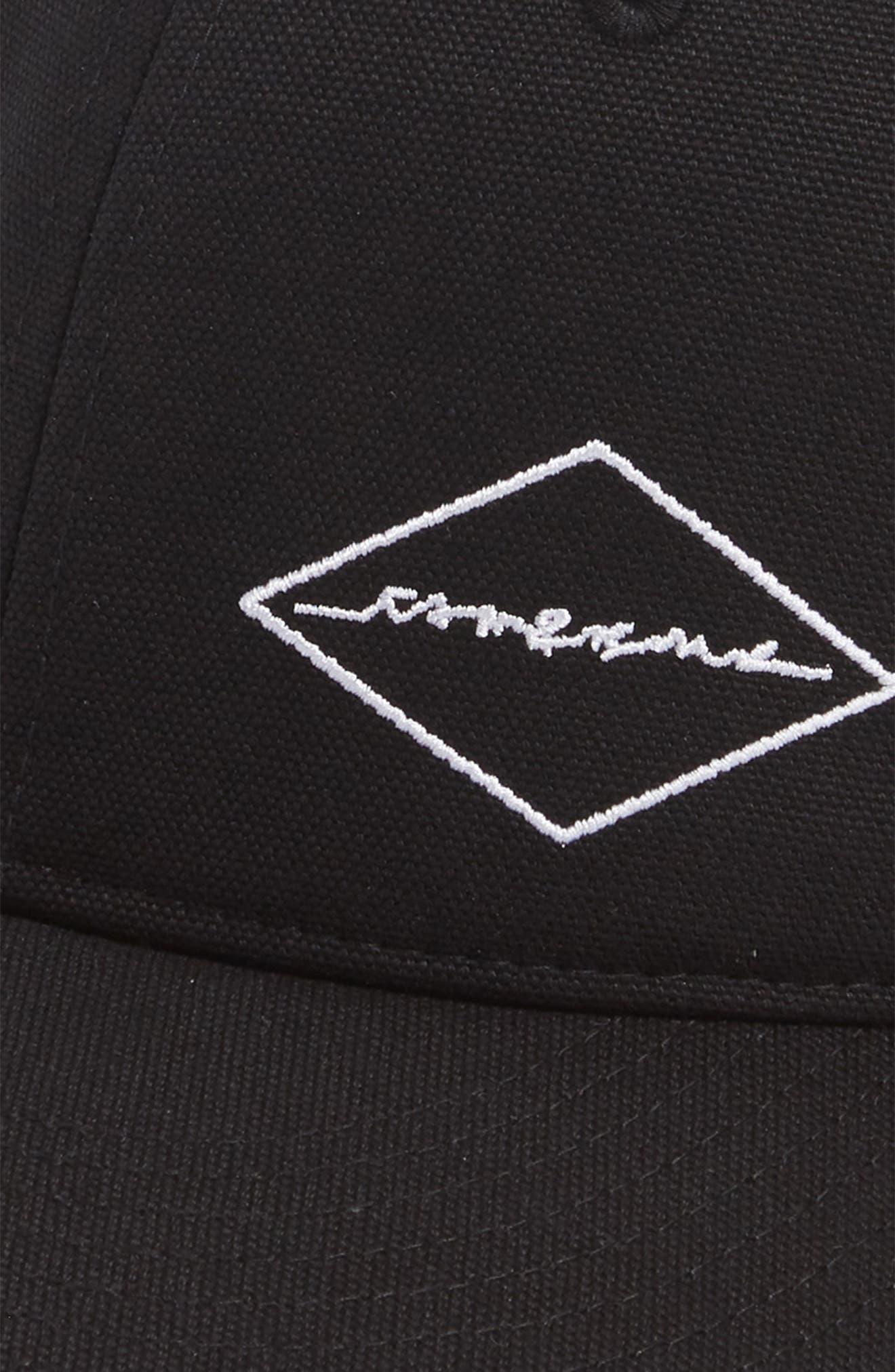 Dylan Canvas Baseball Cap,                             Alternate thumbnail 3, color,                             BLACK DIAMOND