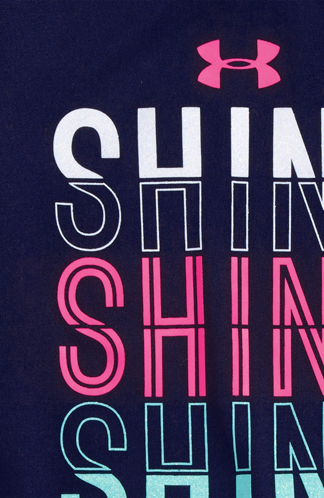 Shine Shine Shine HeatGear<sup>®</sup> Tee & Shorts Set,                             Alternate thumbnail 2, color,                             001
