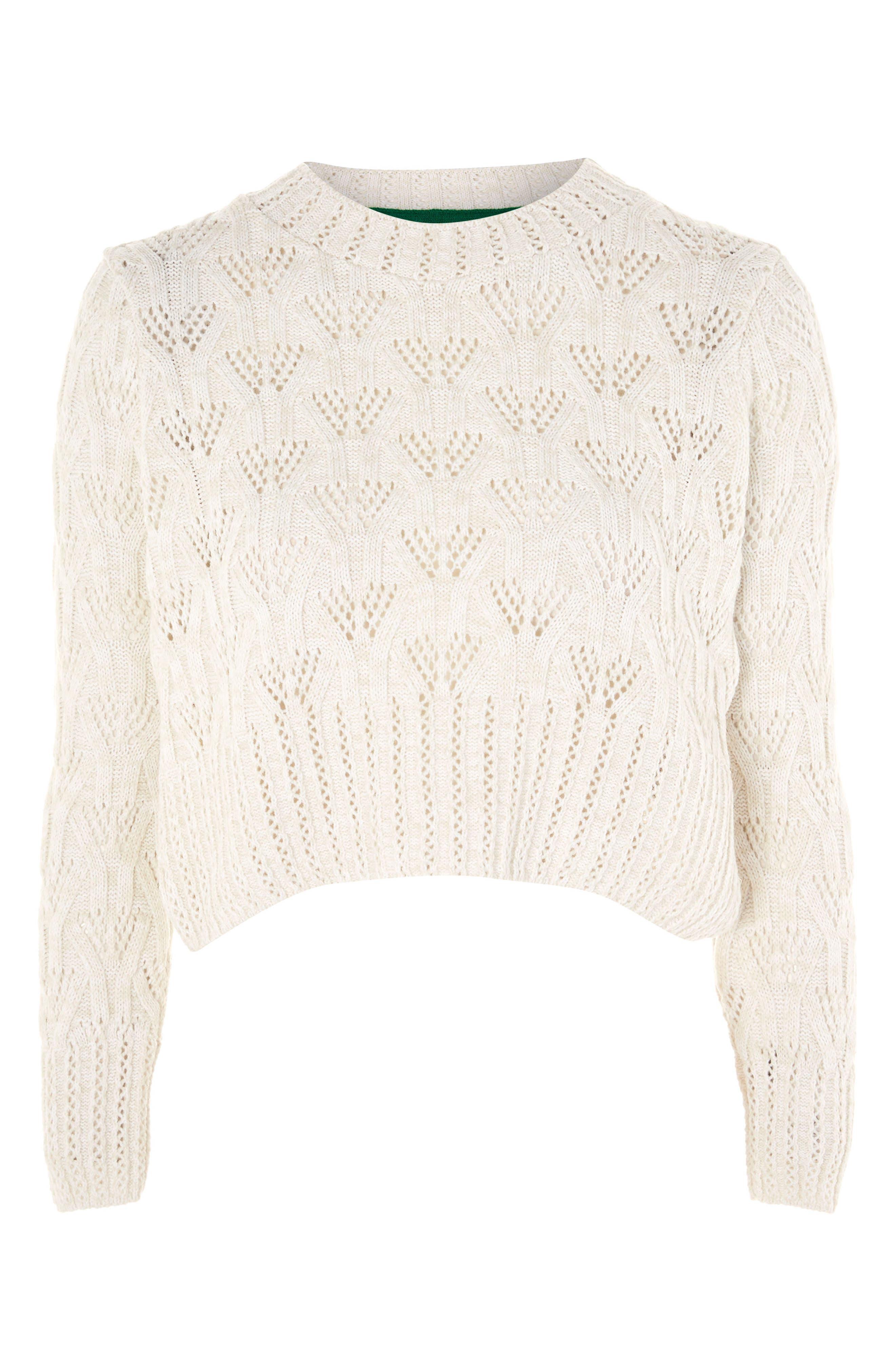 Geo Stitch Sweater,                             Alternate thumbnail 3, color,                             900