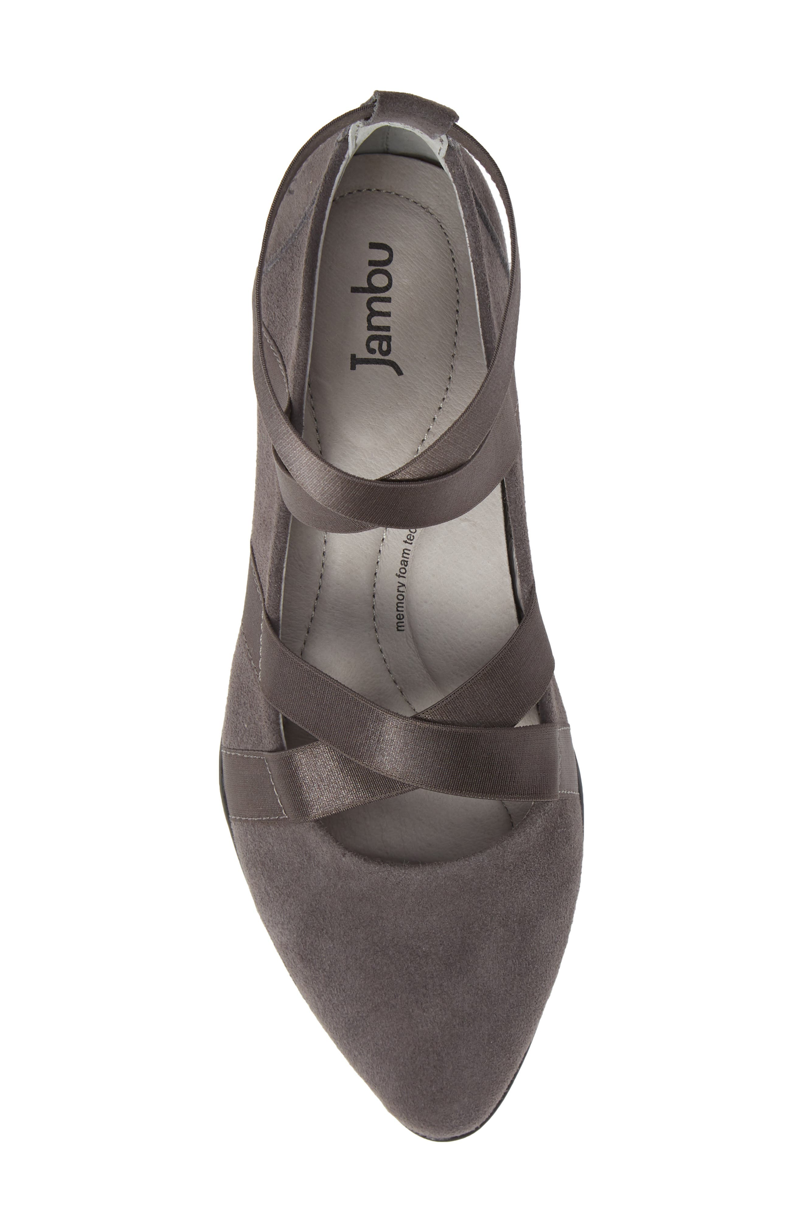 Rumson Flat,                             Alternate thumbnail 5, color,                             CHARCOAL SUEDE