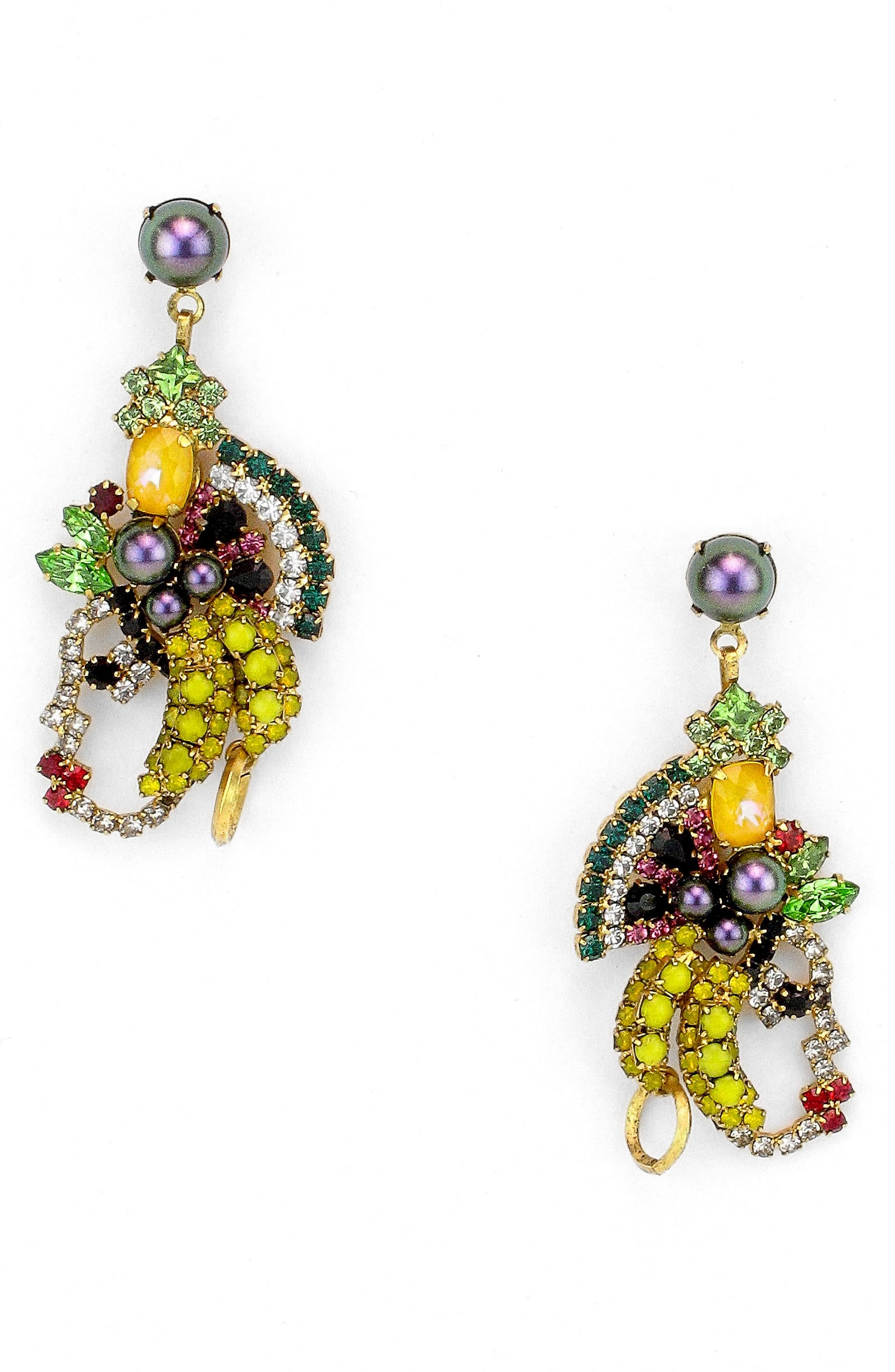 Marisal Crystal Earrings,                             Main thumbnail 1, color,                             TROPICAL