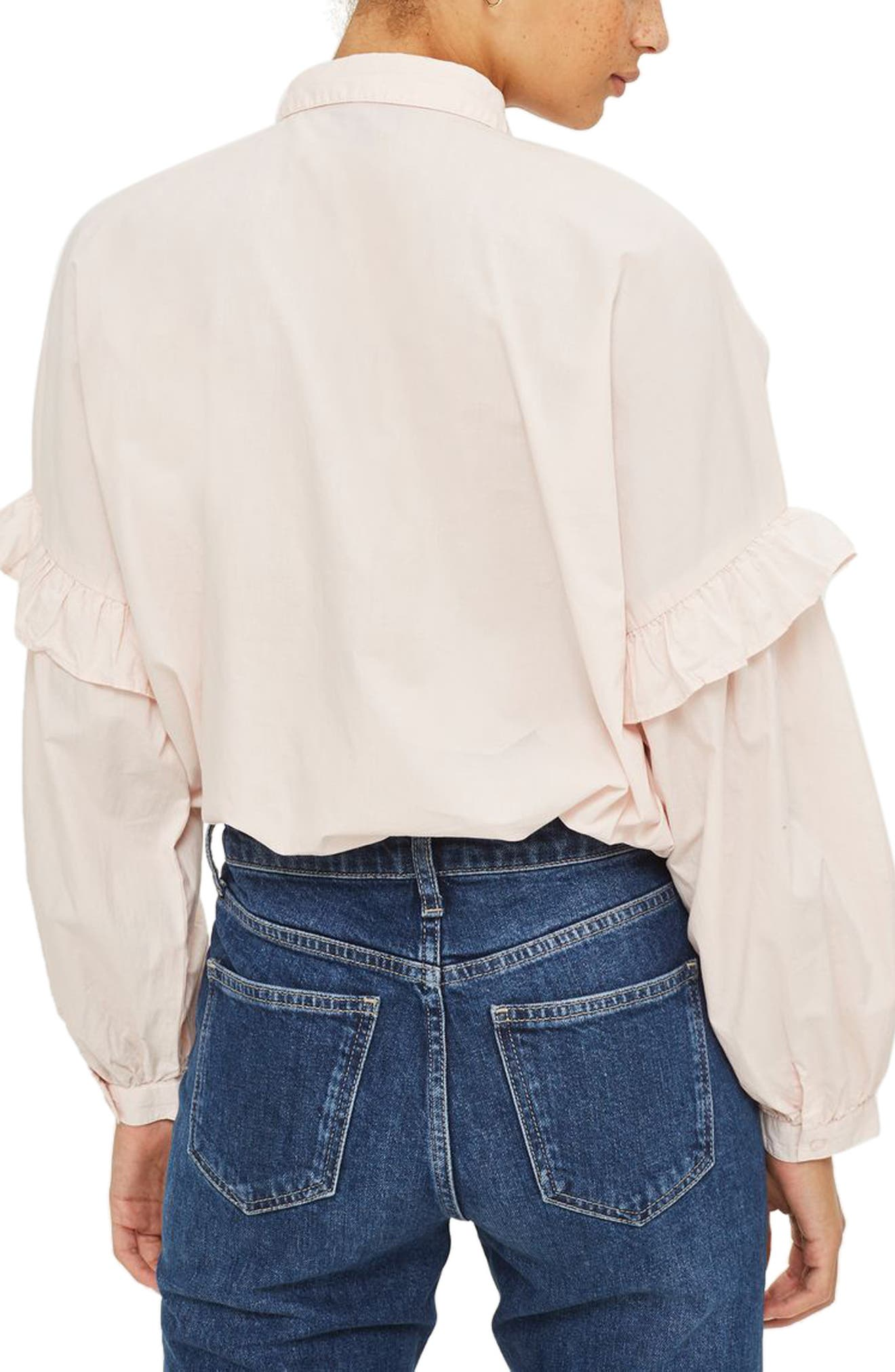 Forest Floral Embroidered Shirt,                             Alternate thumbnail 2, color,                             680