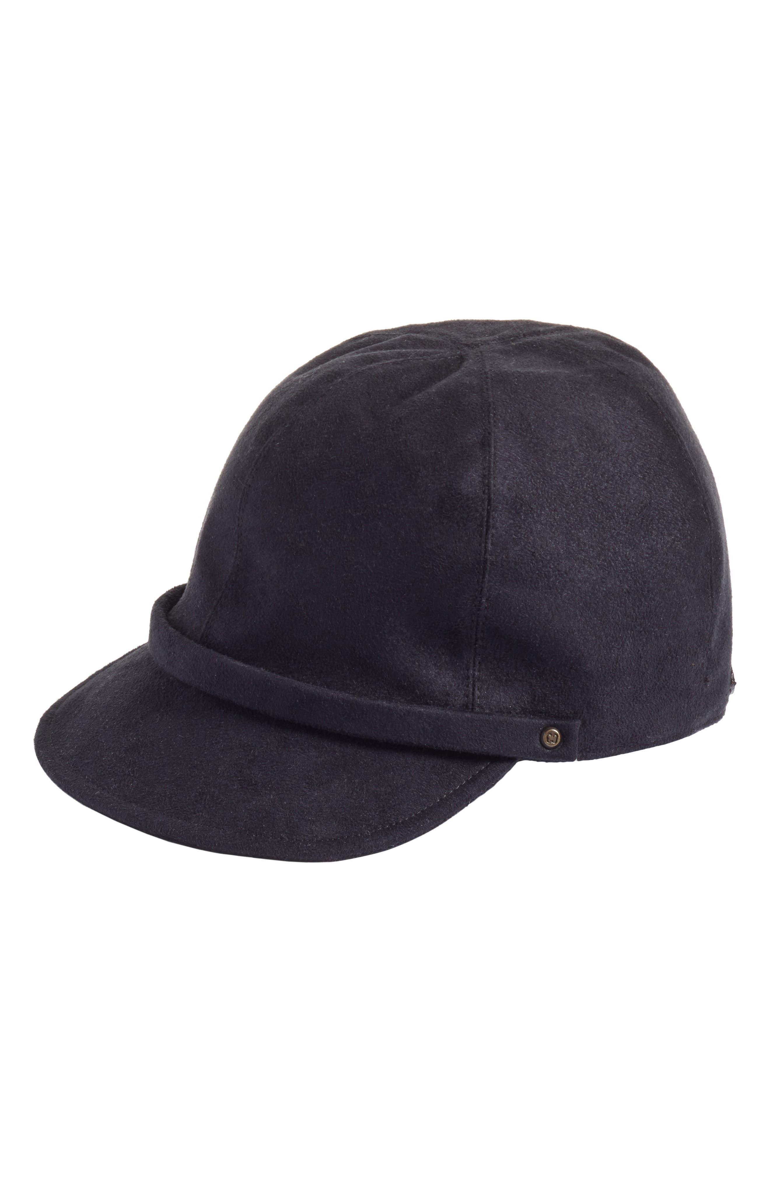 Mika Packable Faux Suede Cap,                         Main,                         color, 001