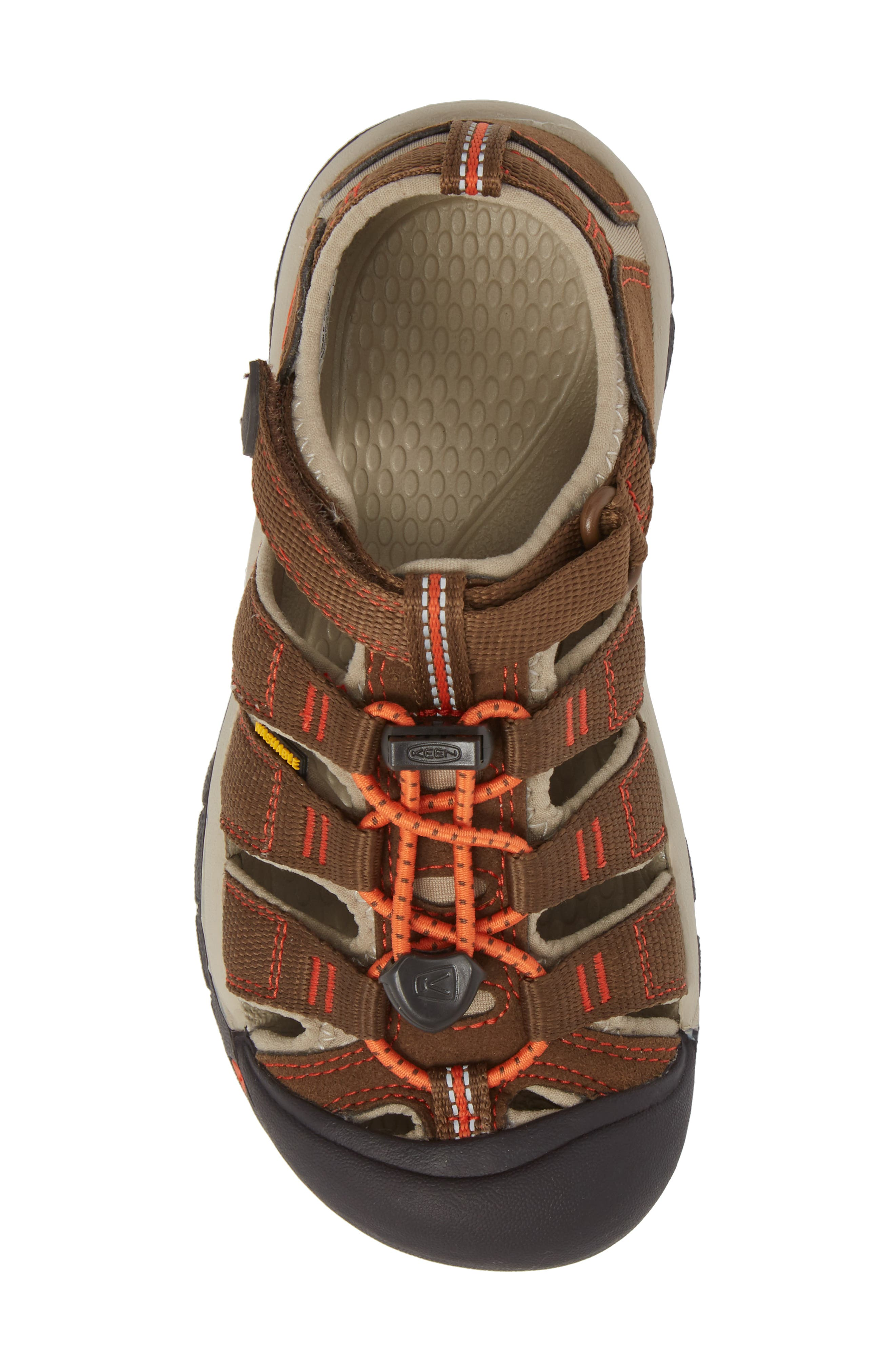 'Newport H2' Water Friendly Sandal,                             Alternate thumbnail 5, color,                             DARK EARTH/ SPICY ORANGE