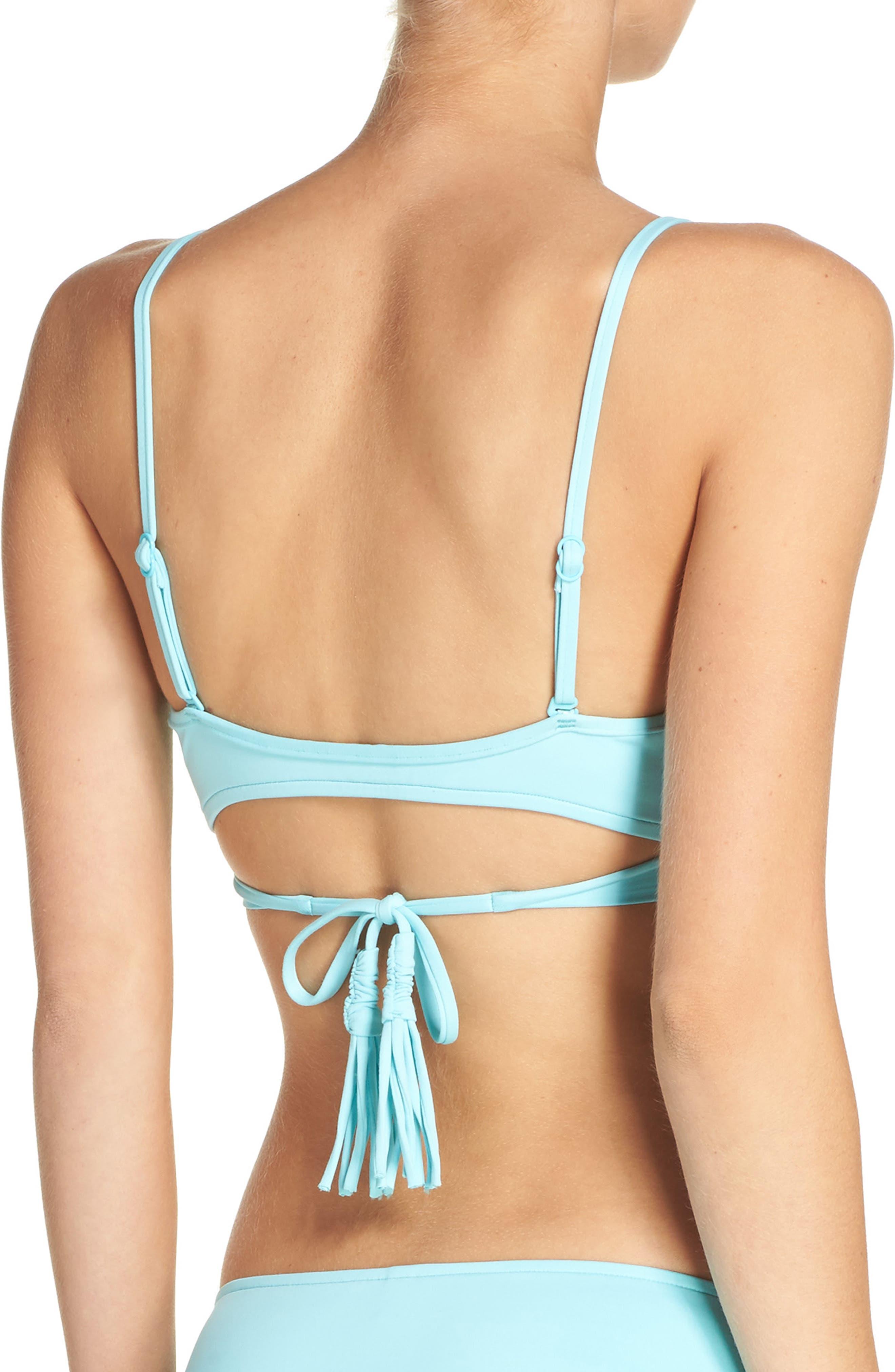Wrap Bikini Top,                             Alternate thumbnail 6, color,