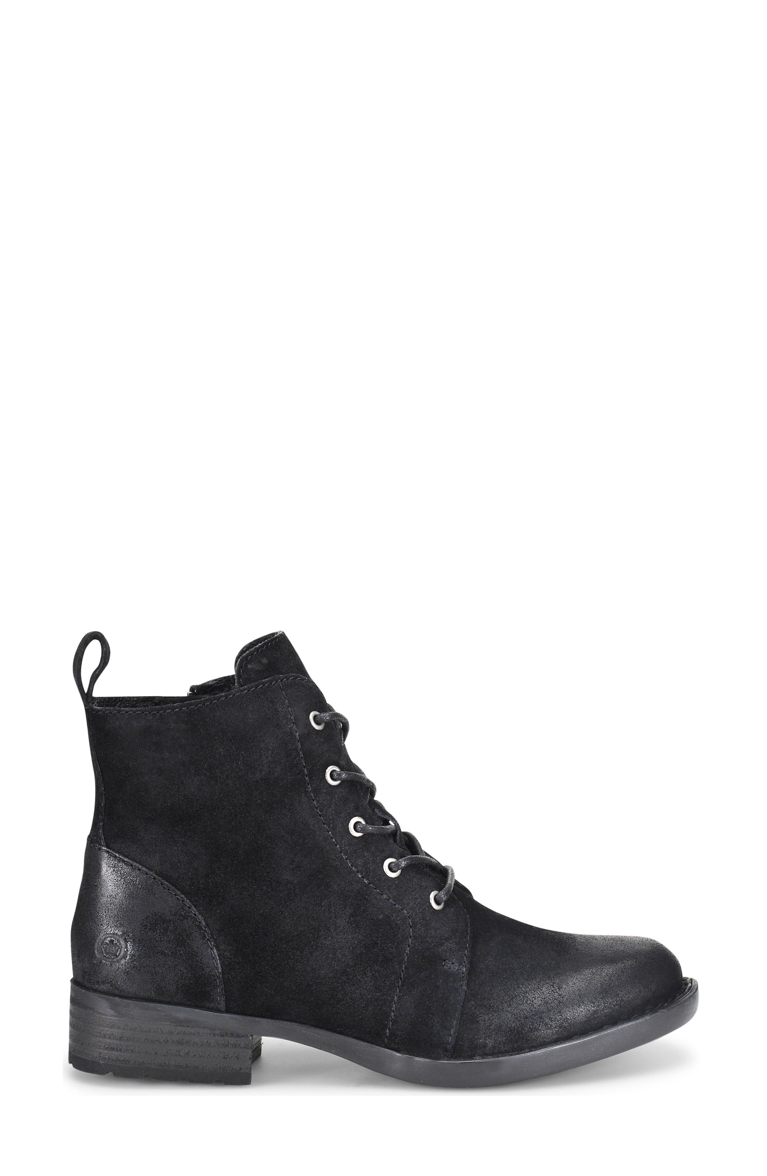 Troye Vintage Lace-Up Boot,                             Alternate thumbnail 3, color,                             002