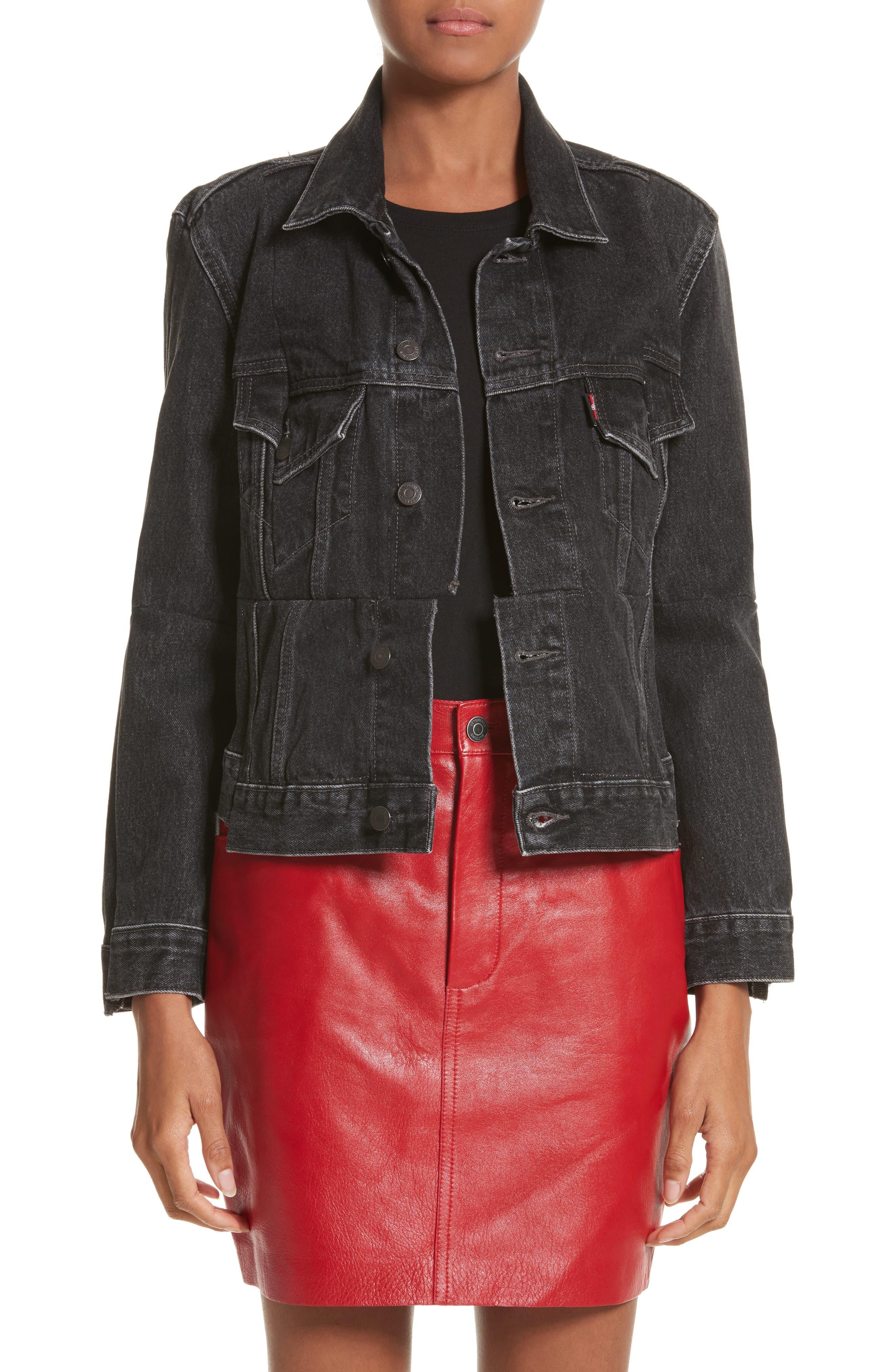 Reworked Denim Jacket,                         Main,                         color, 001