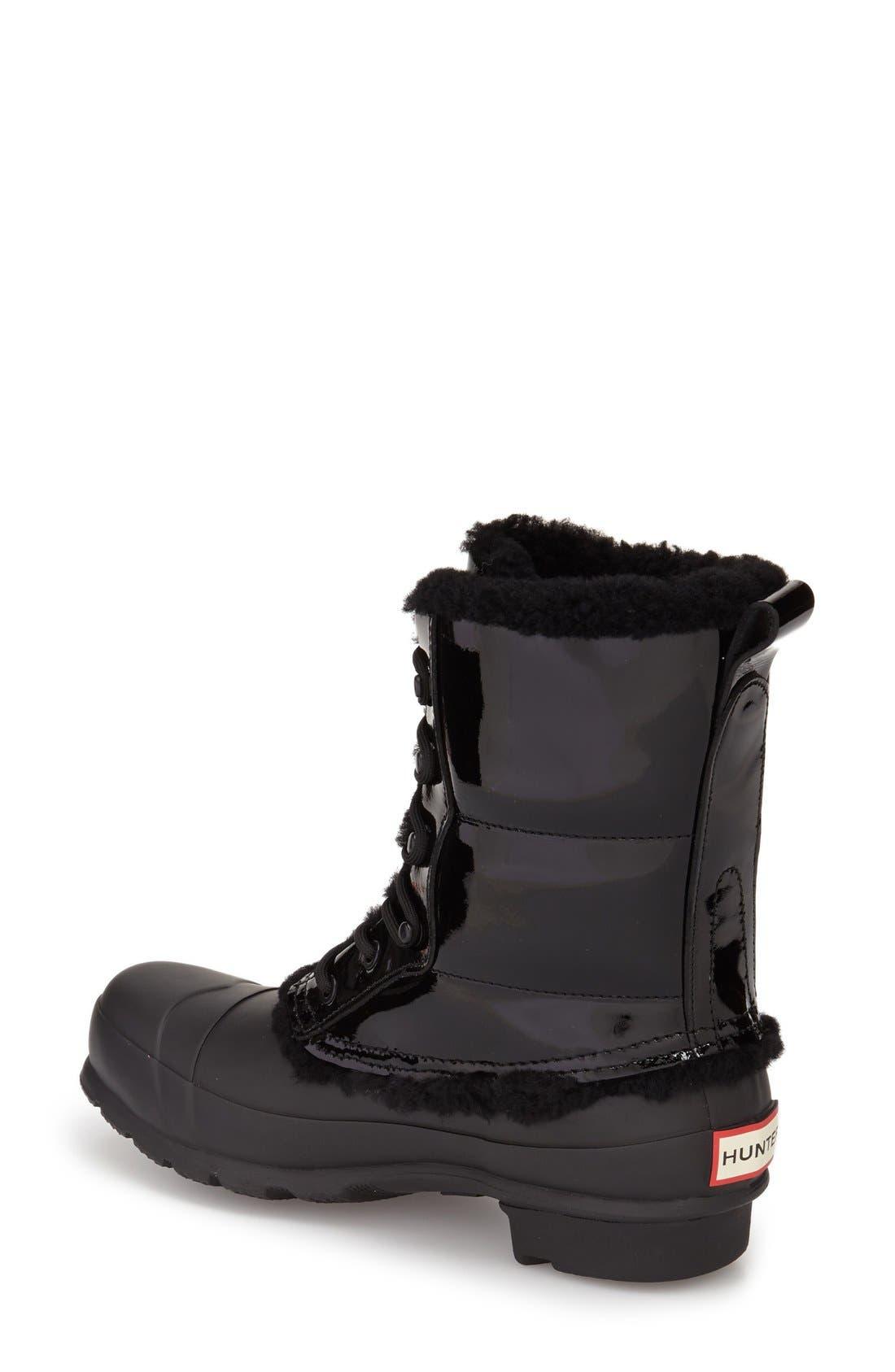 Original Genuine Shearling Lined Waterproof Boot,                             Alternate thumbnail 2, color,                             001