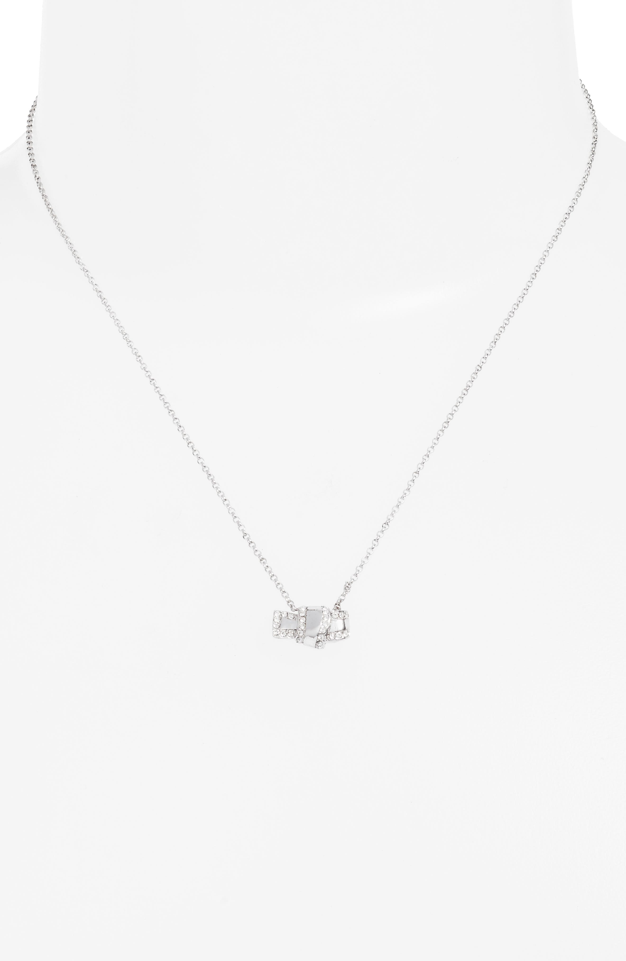 all tied up pavé pendant necklace,                             Alternate thumbnail 2, color,                             040