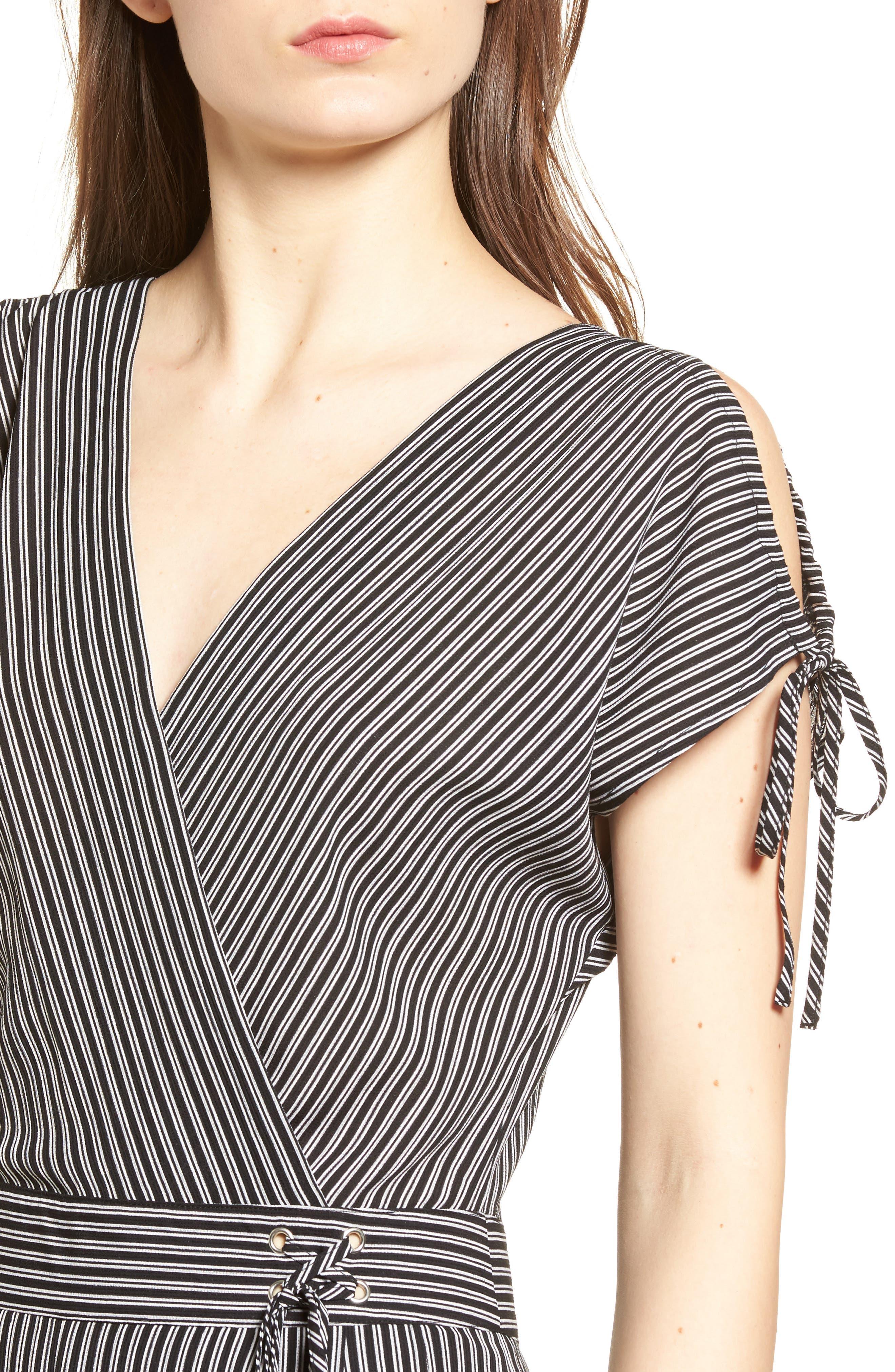 Stripe Jumpsuit,                             Alternate thumbnail 4, color,