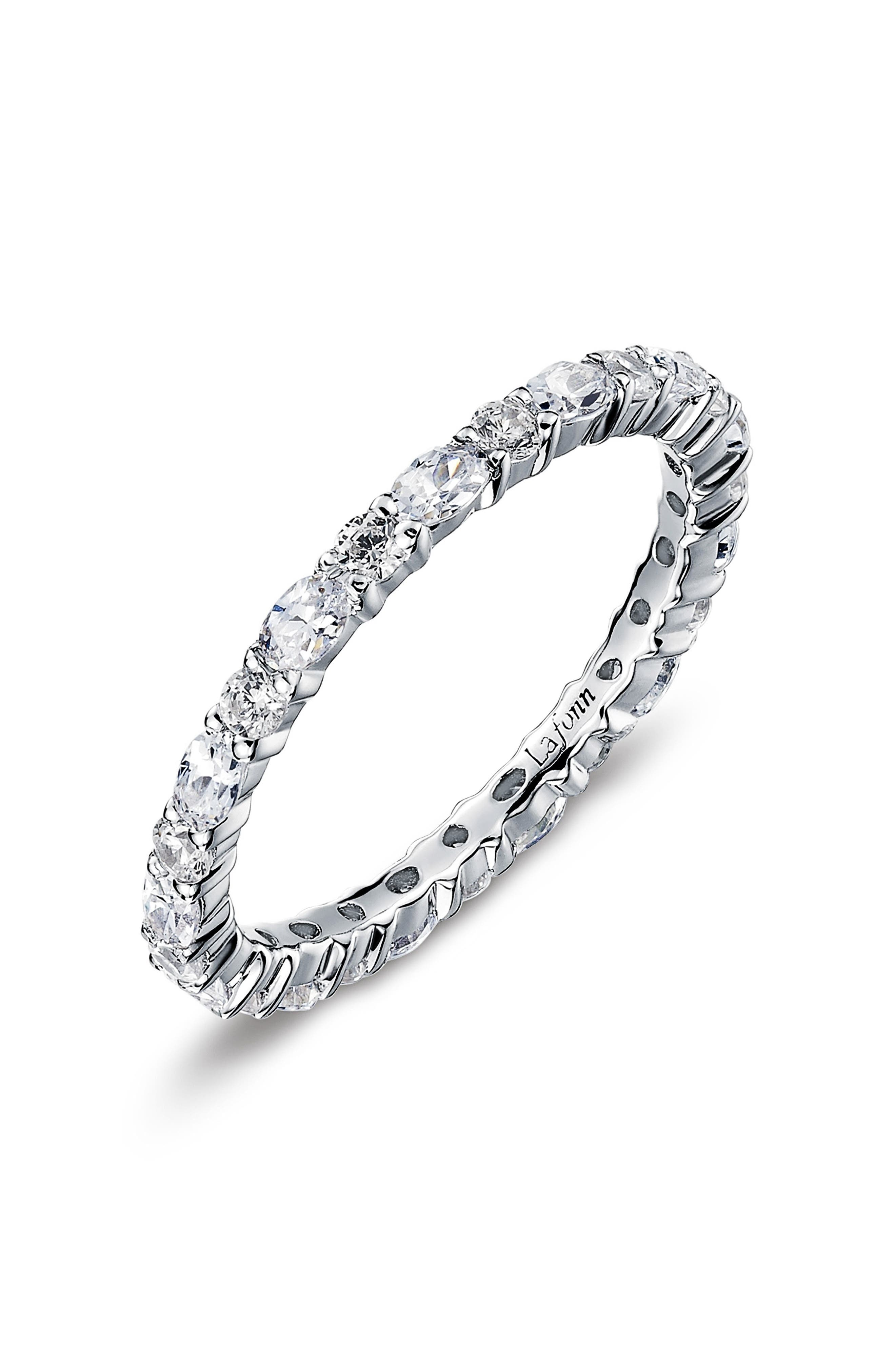 Simulated Diamond Birthstone Band Ring,                             Main thumbnail 1, color,                             APRIL / CRYSTAL