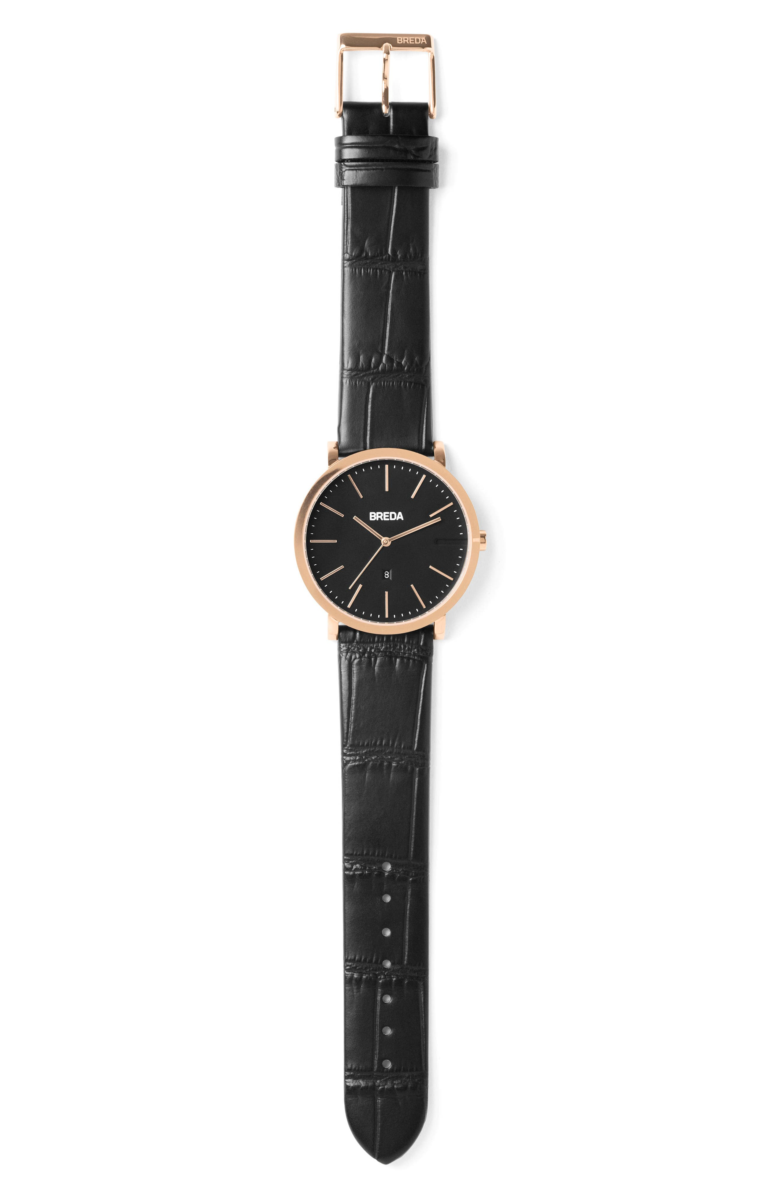Breuer Leather Strap Watch, 39mm,                             Alternate thumbnail 12, color,