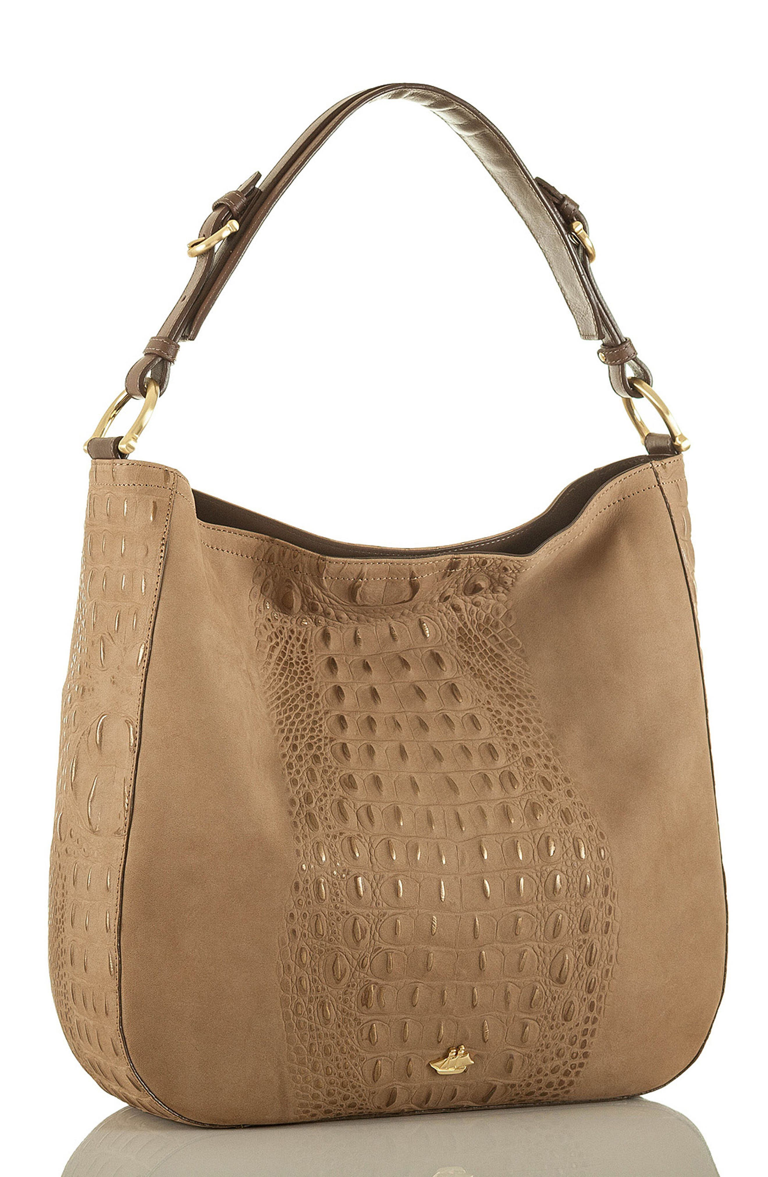 Southcoast Eva Croc-Embossed Leather Tote,                             Alternate thumbnail 4, color,