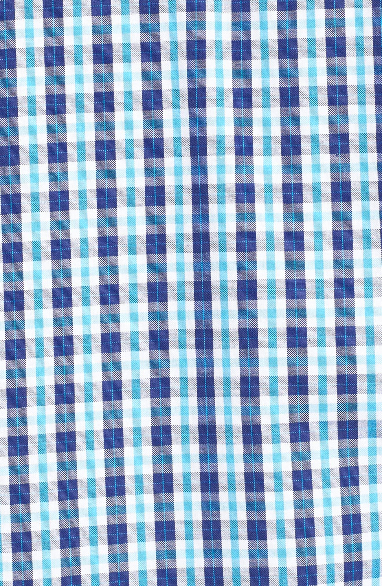 Shaped Fit Plaid Sport Shirt,                             Alternate thumbnail 5, color,                             422