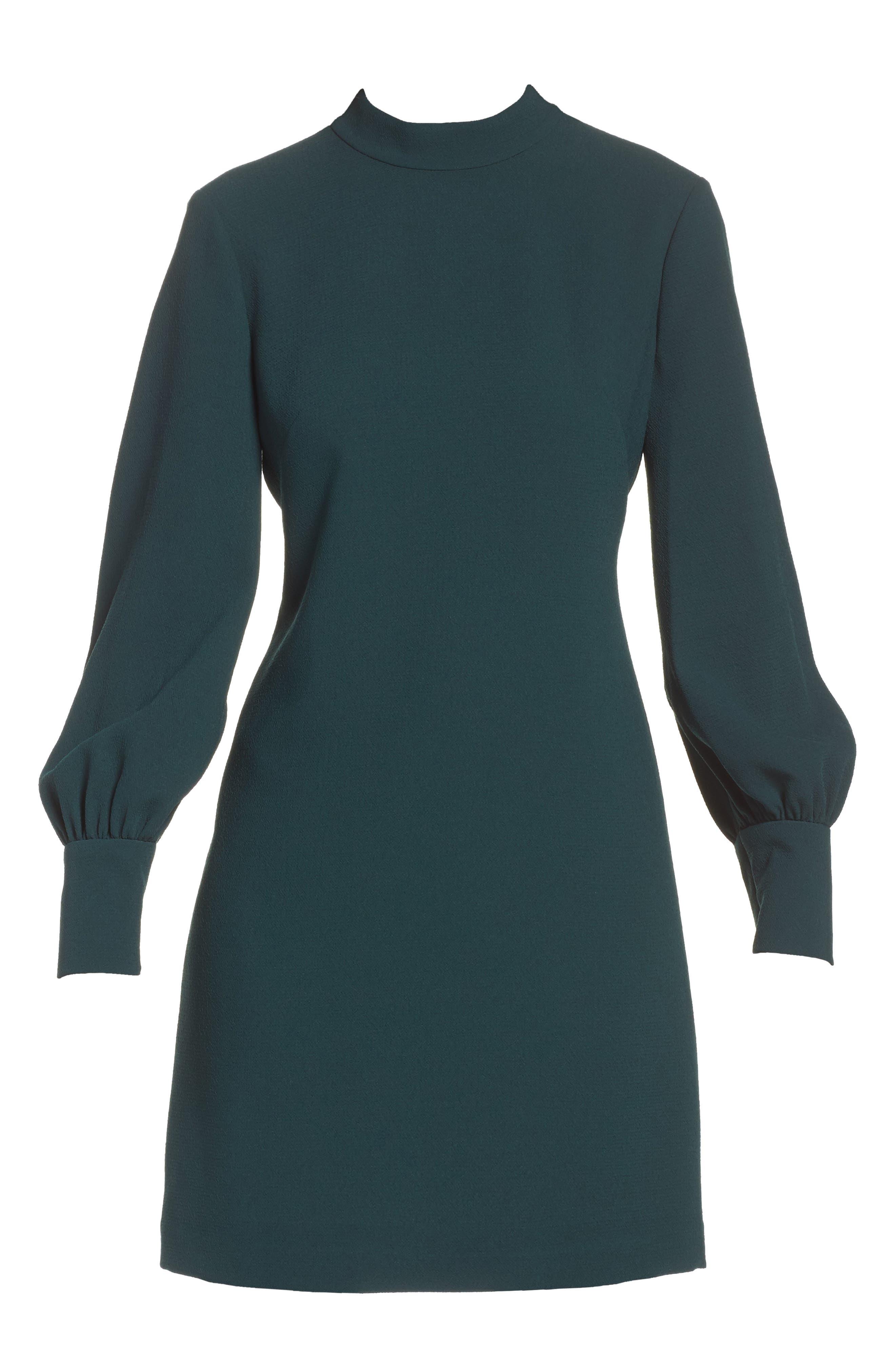Bishop Sleeve Shift Dress,                             Alternate thumbnail 6, color,                             302