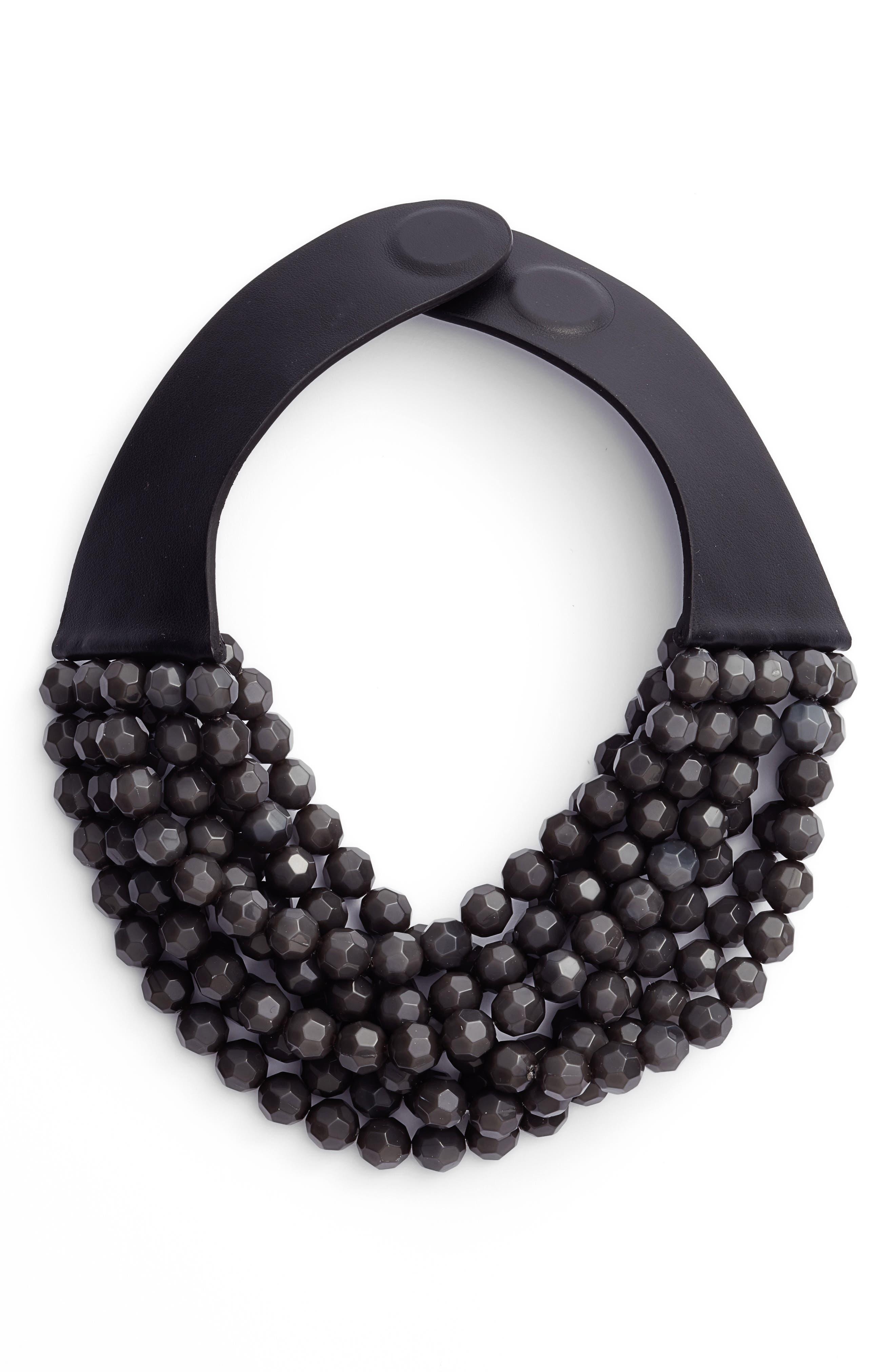 FAIRCHILD BALDWIN Beaded Collar Necklace, Main, color, 020