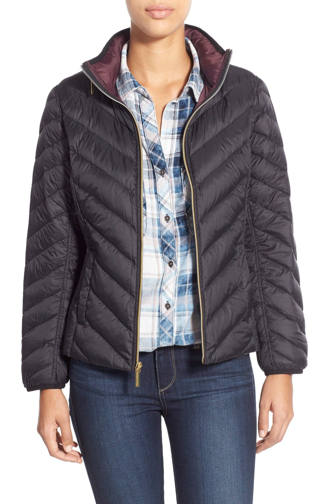 Packable Down Jacket, Main, color, 001