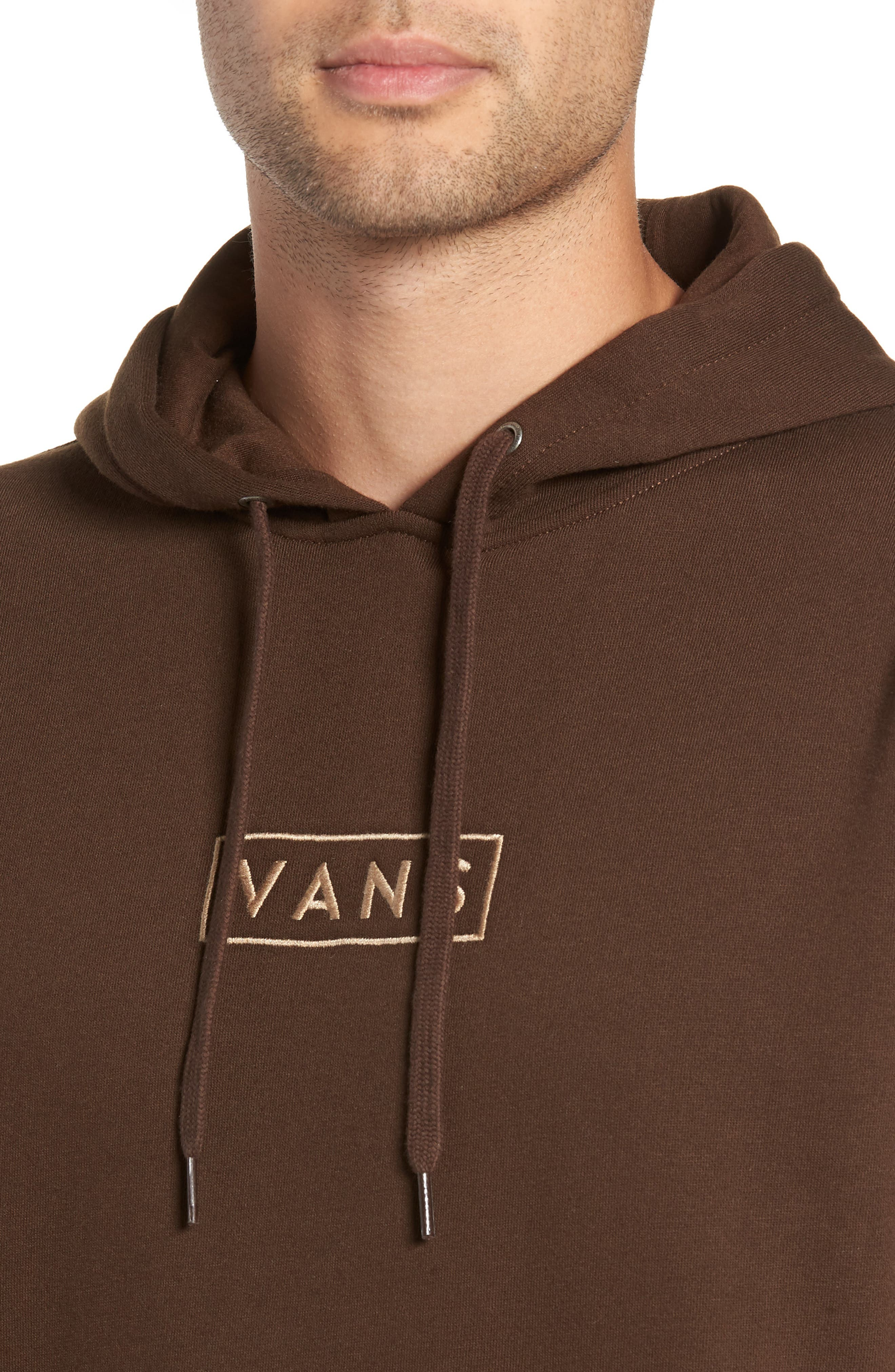 Easy Box Embroidered Hooded Sweatshirt,                             Alternate thumbnail 4, color,                             DEMITASSE