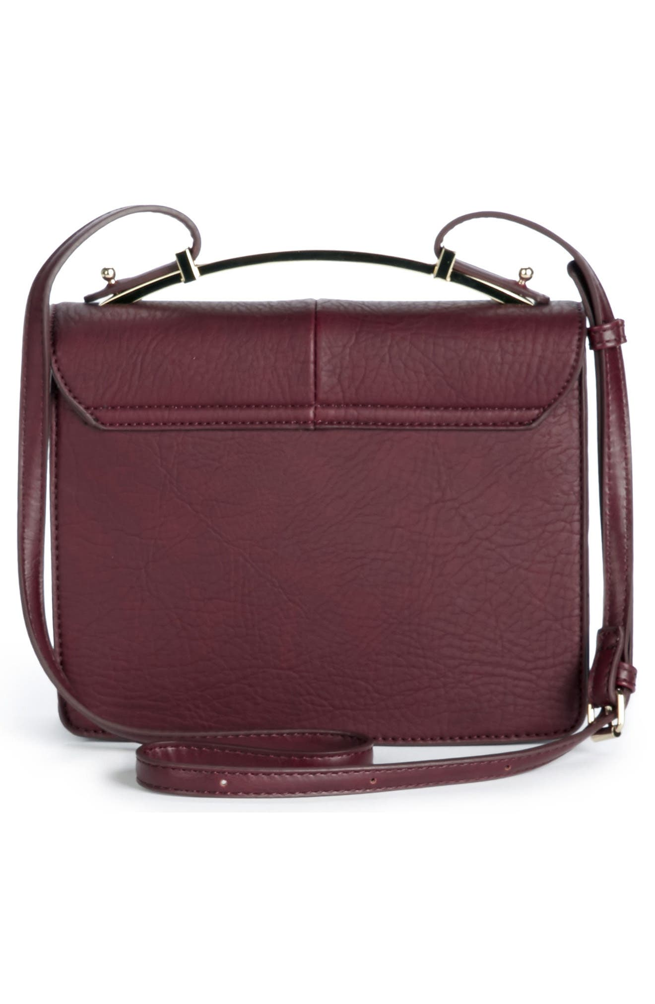 Krista Faux Leather Crossbody Bag,                             Alternate thumbnail 6, color,
