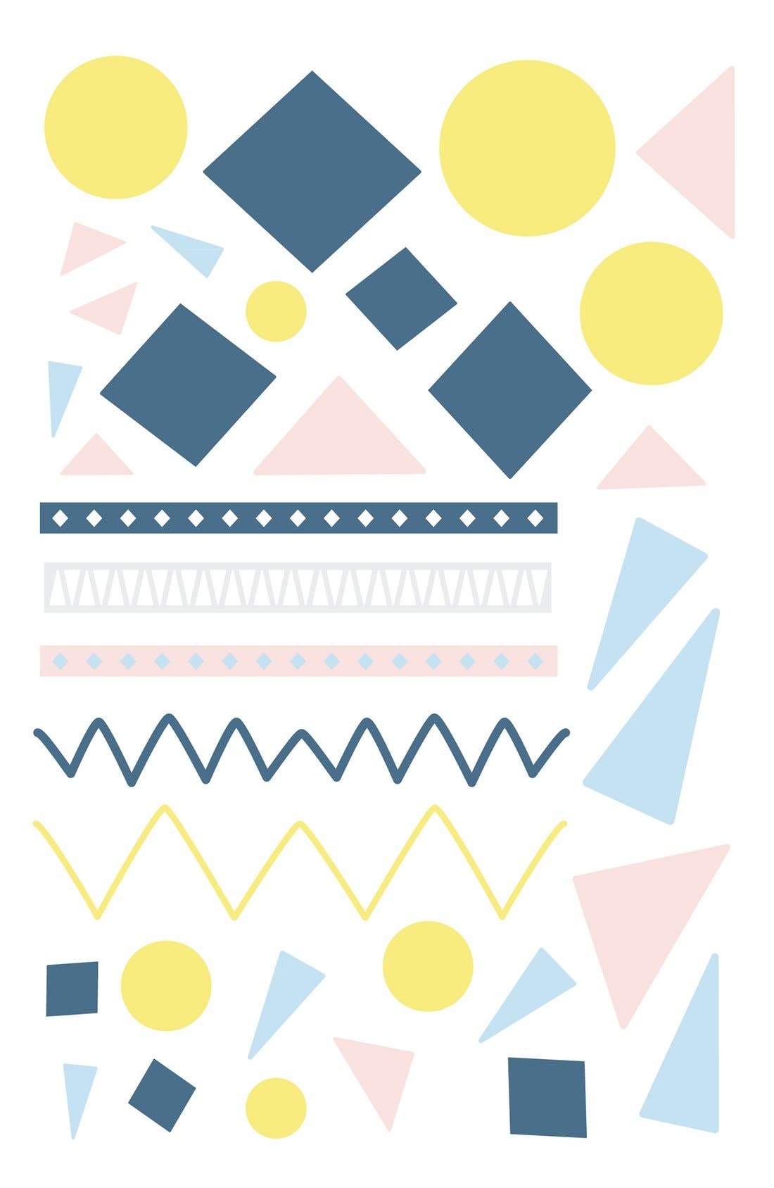 'Desert' Crib Sheet, Crib Skirt, Changing Pad Cover, Play Blanket, Stroller Blanket & Wall Decals,                             Alternate thumbnail 6, color,                             OFF WHITE