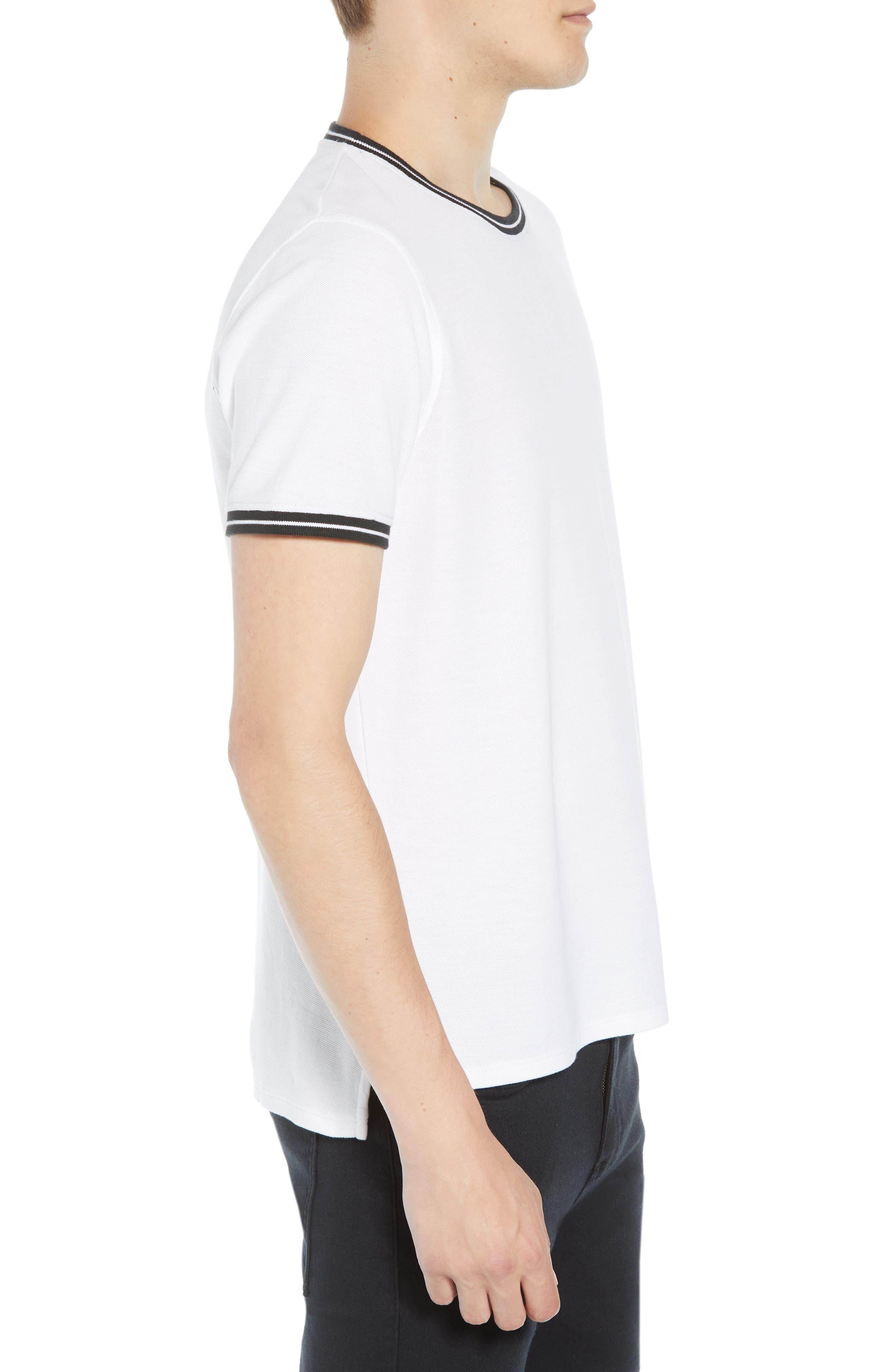 Pique Crewneck T-shirt,                             Alternate thumbnail 3, color,