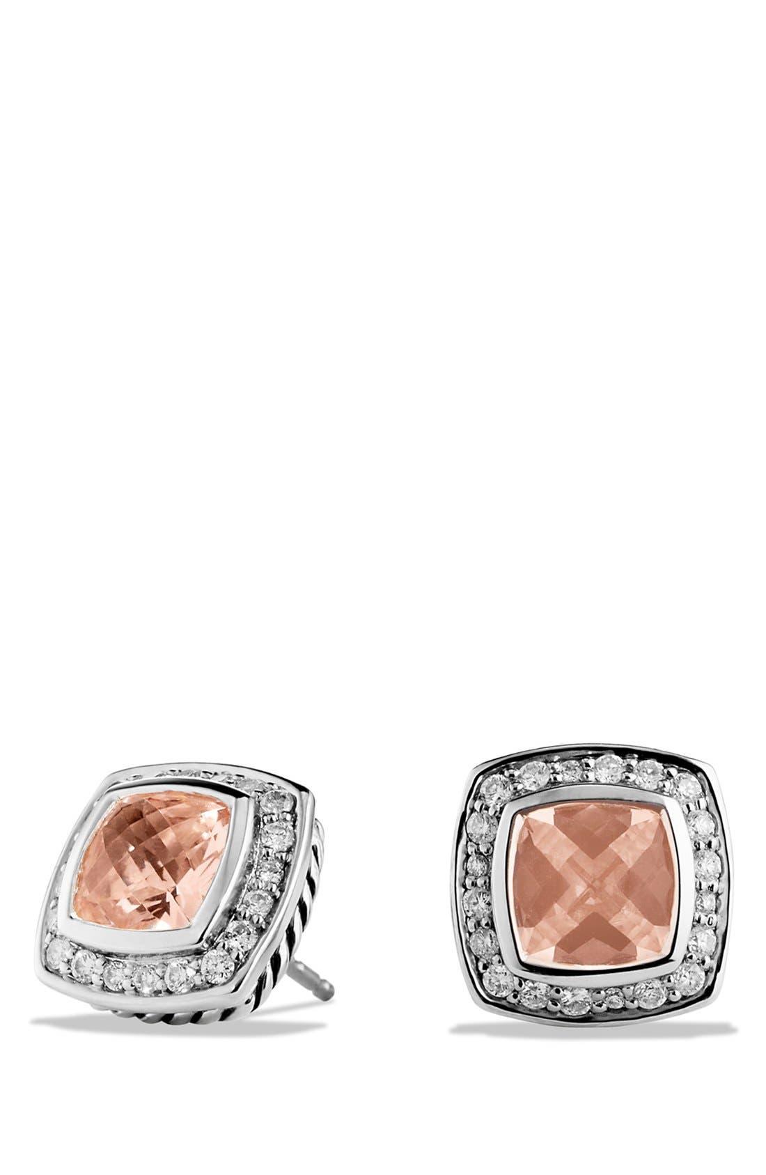 'Albion' Petite Earrings with Semiprecious Stones & Diamonds,                             Main thumbnail 7, color,