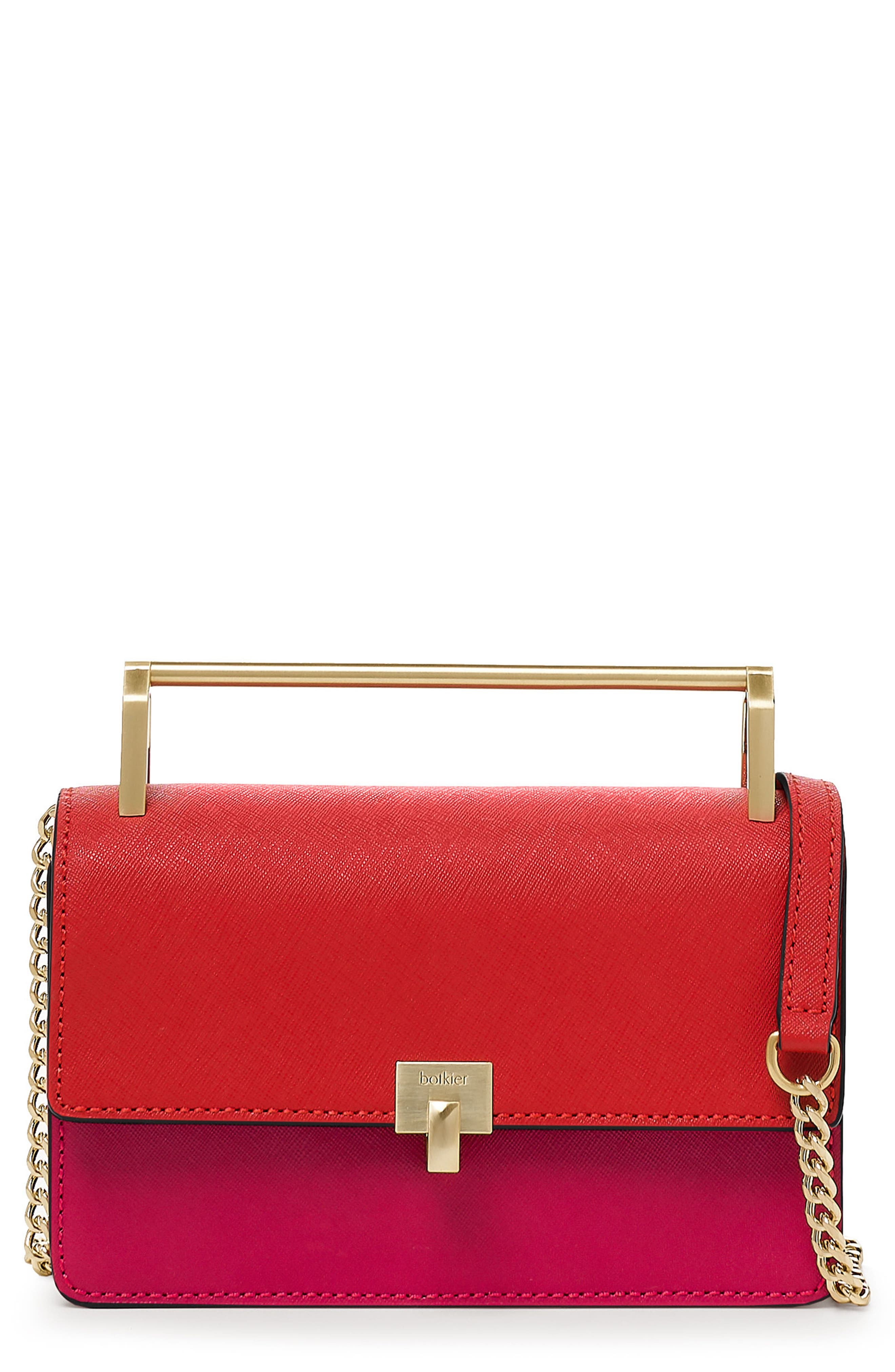 BOTKIER Lennox Leather Crossbody Bag - Red in Red Colorblock