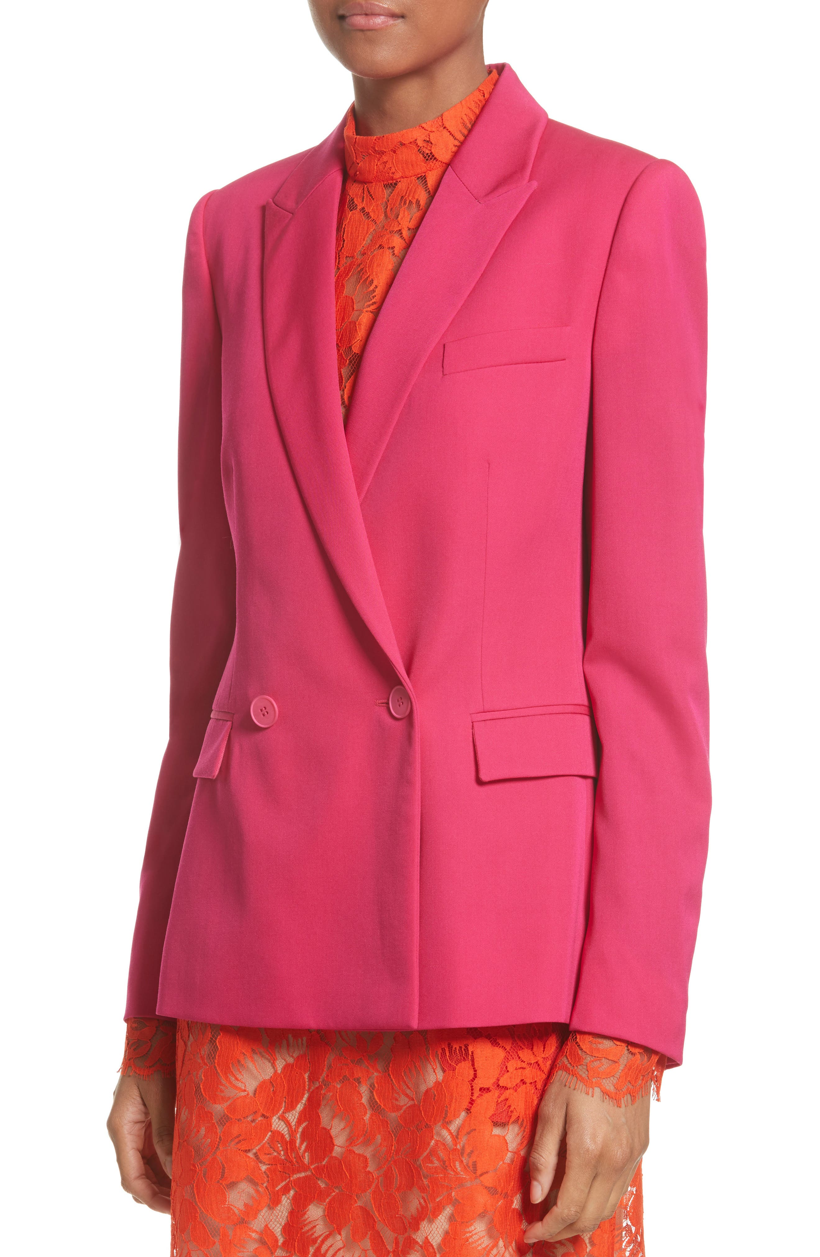Double Breasted Blazer,                             Alternate thumbnail 4, color,                             650