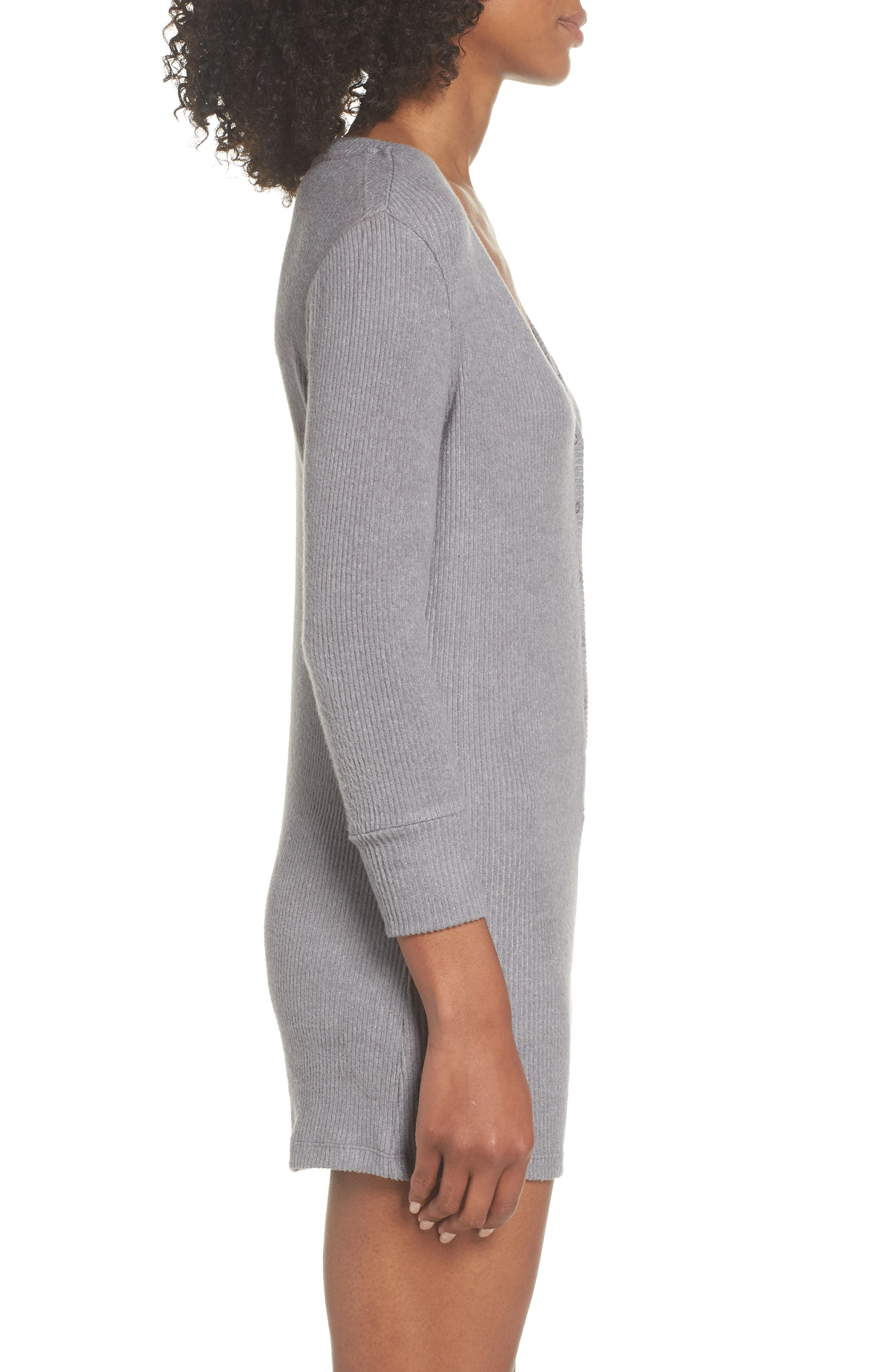 Joes' Henley Romper,                             Alternate thumbnail 3, color,                             HEATHER GRAY