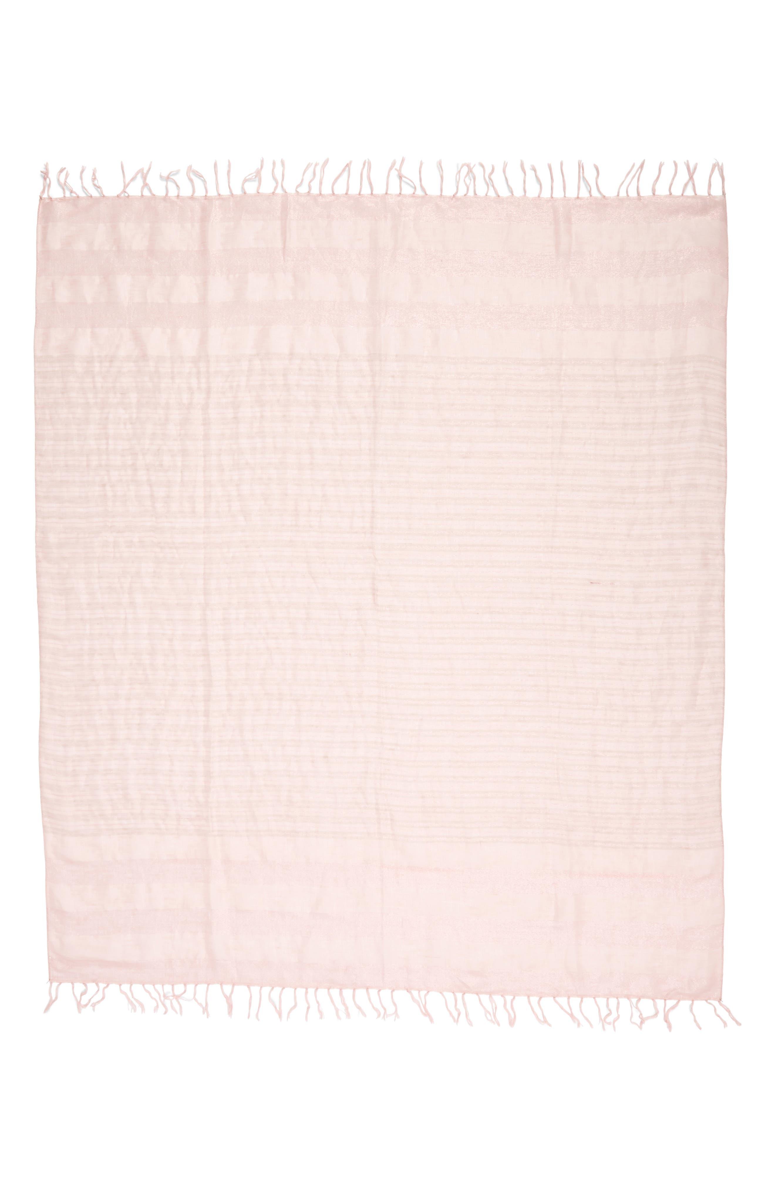Shimmer Linen Blend Scarf,                             Alternate thumbnail 3, color,                             630