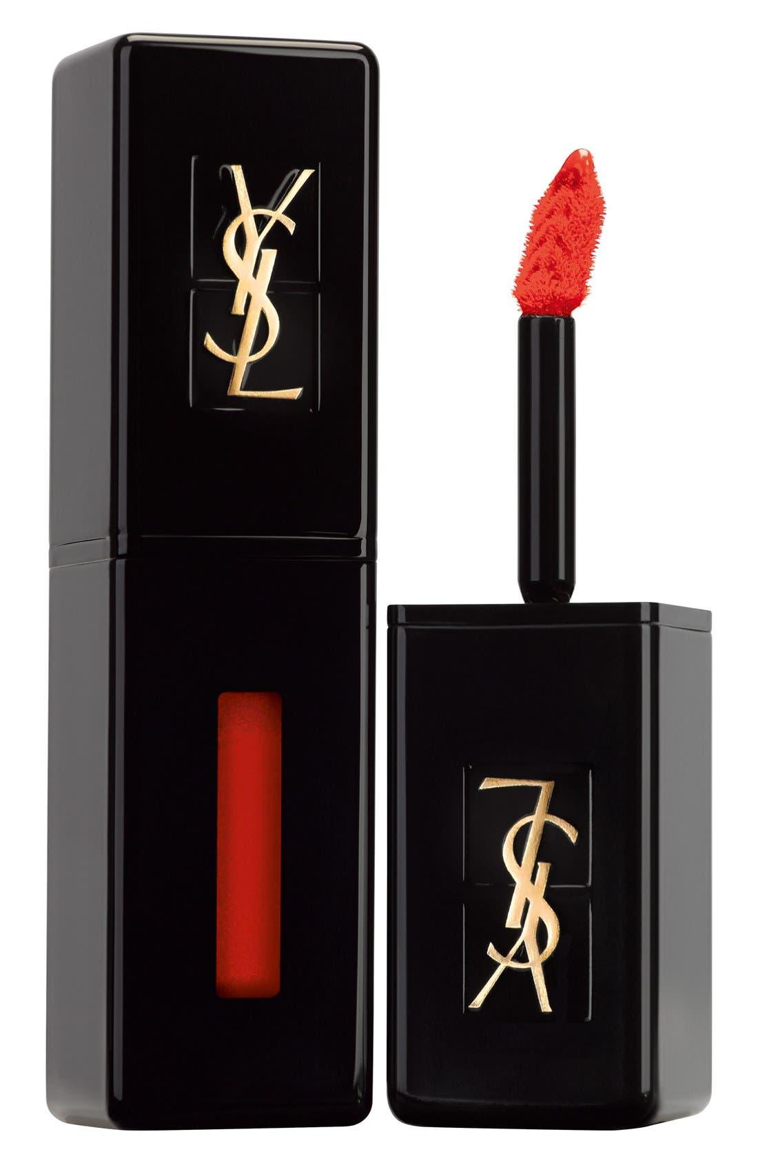 Yves Saint Laurent Vinyl Cream Lip Stain - 406 Orange Electro