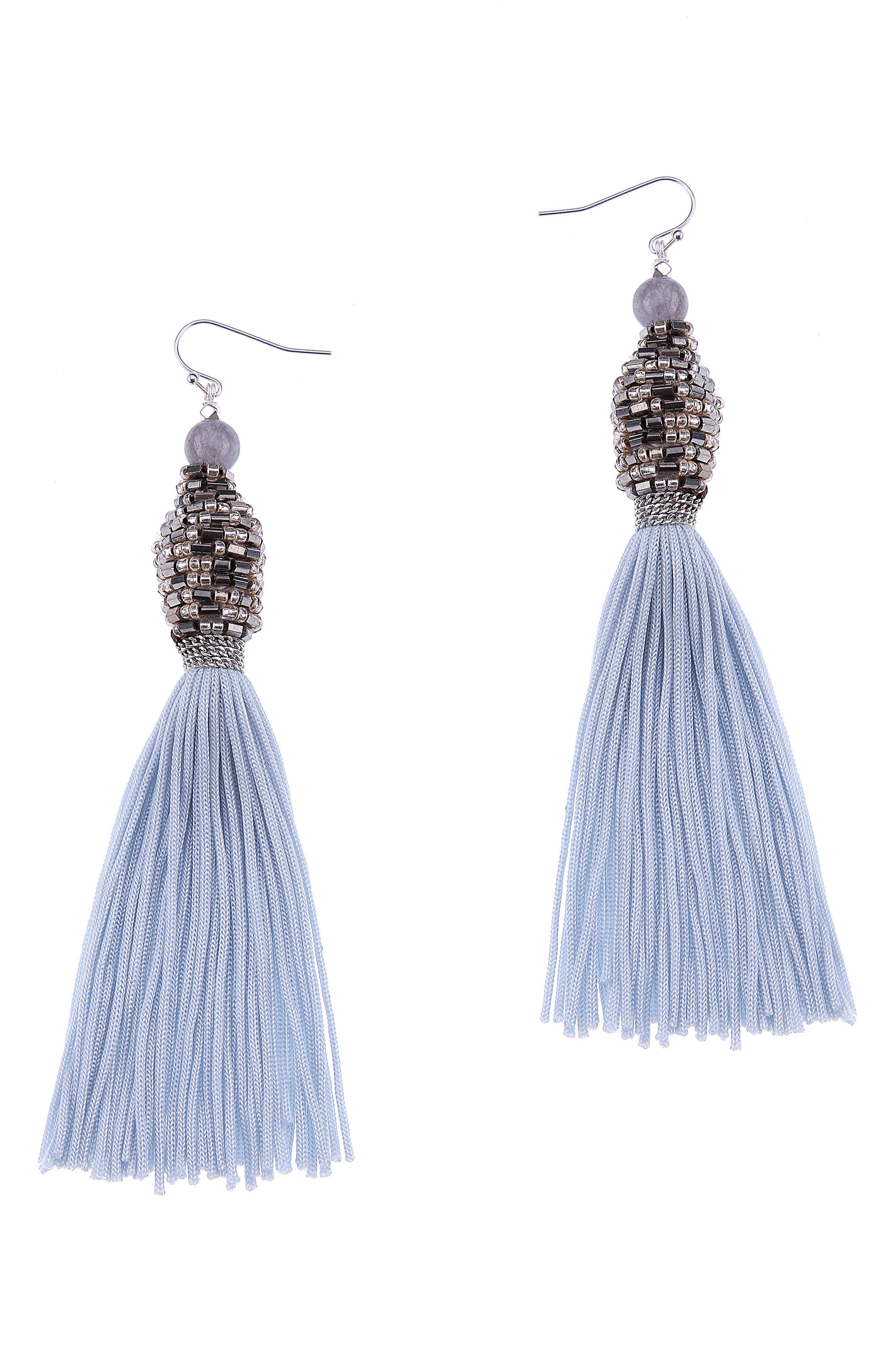 Tassel Earrings,                         Main,                         color, 020