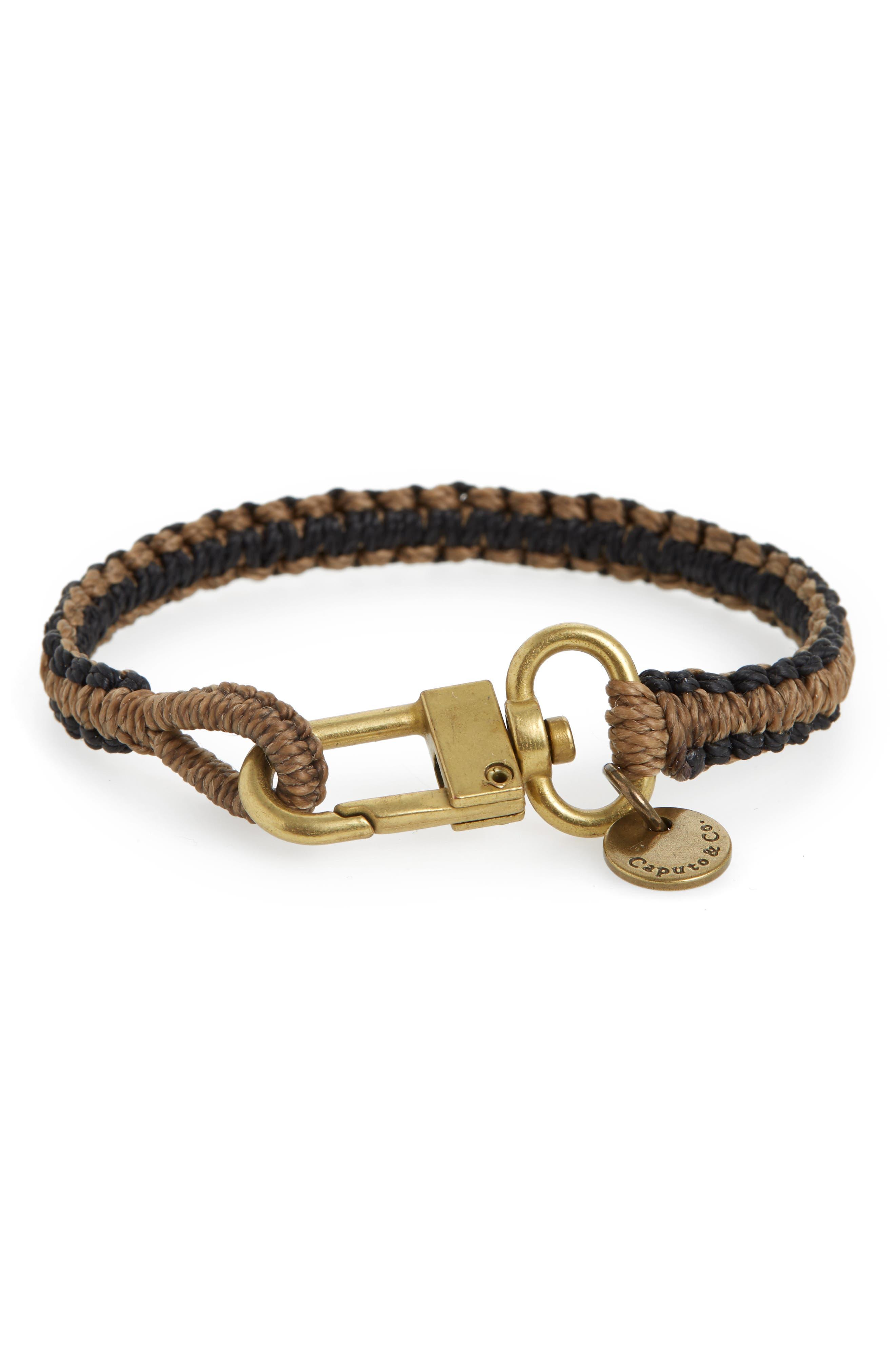 Reversible Bracelet,                         Main,                         color, BROWN/ BLACK