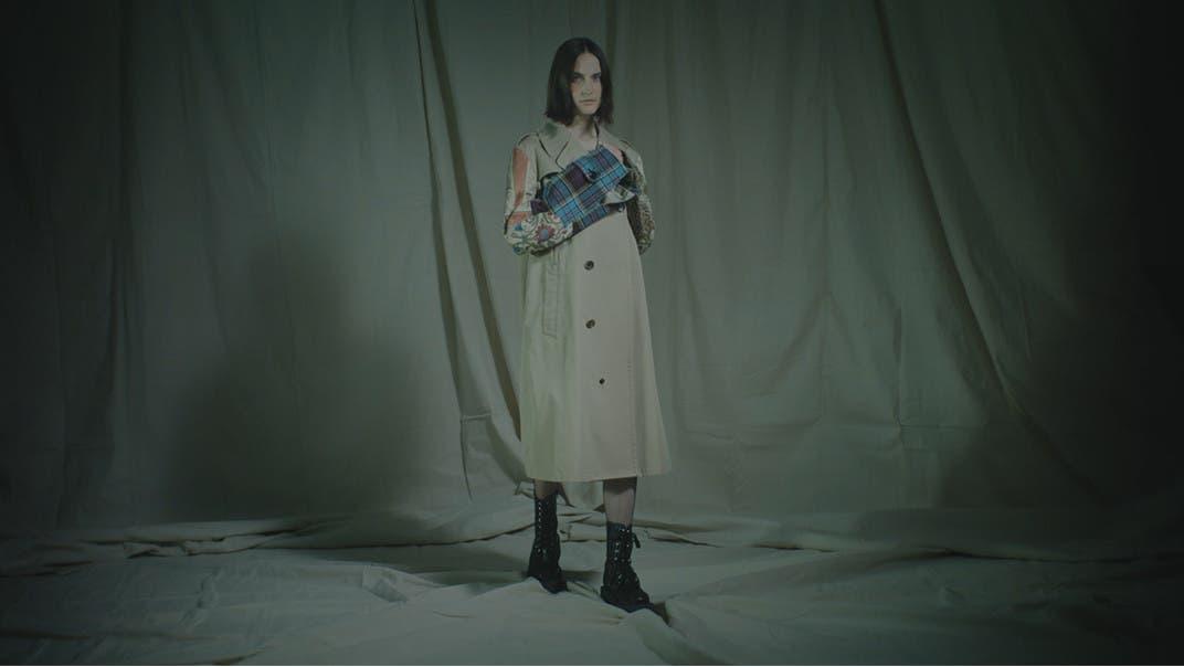 Junya Watanabe trench coat.