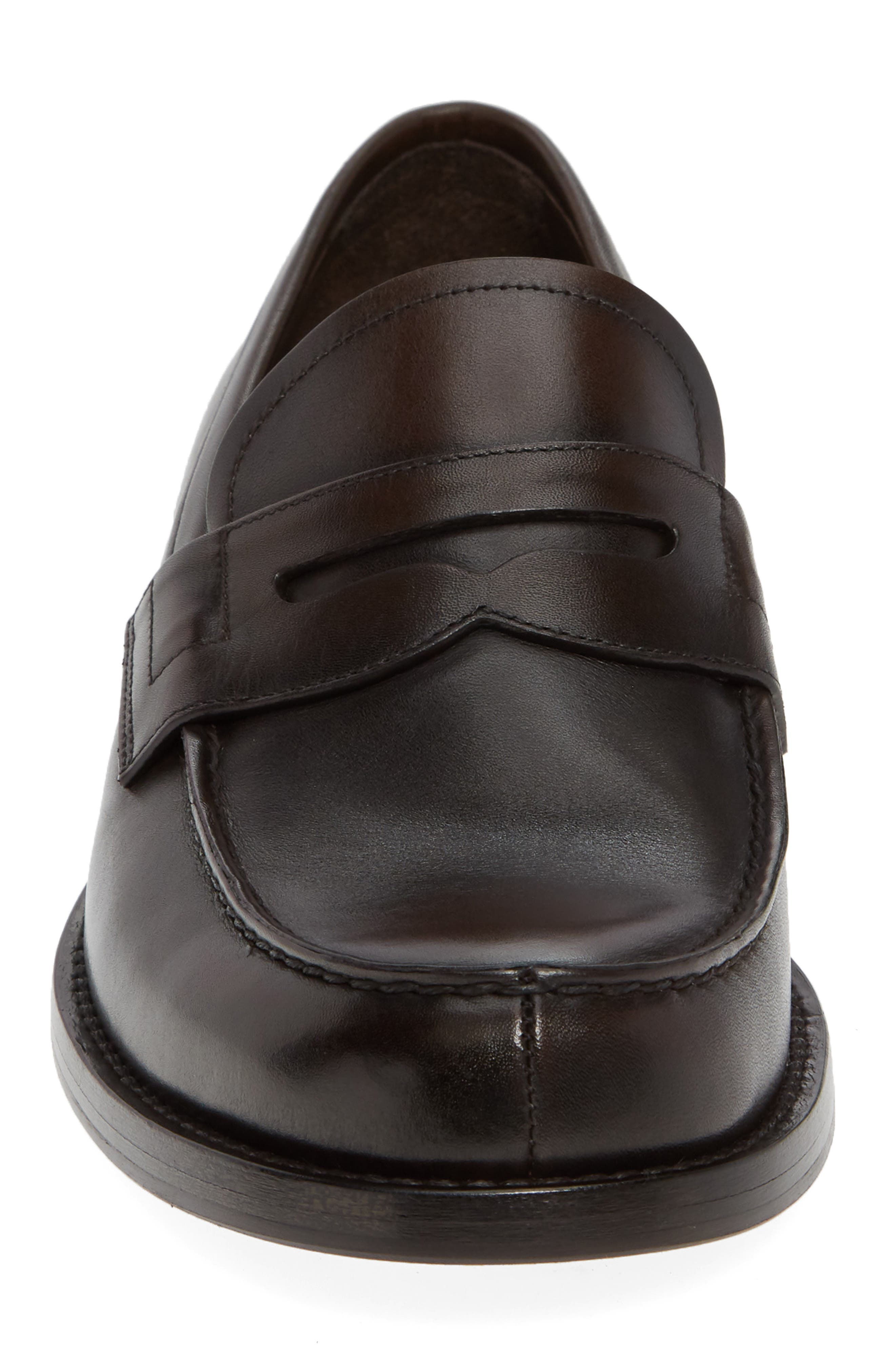 Penny Loafer,                             Alternate thumbnail 4, color,                             MORO BROWN