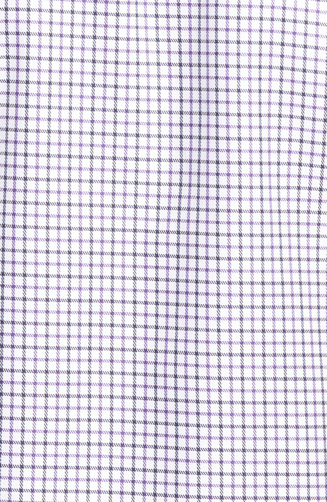 Shaped Fit Tattersall Sport Shirt,                             Alternate thumbnail 5, color,                             513