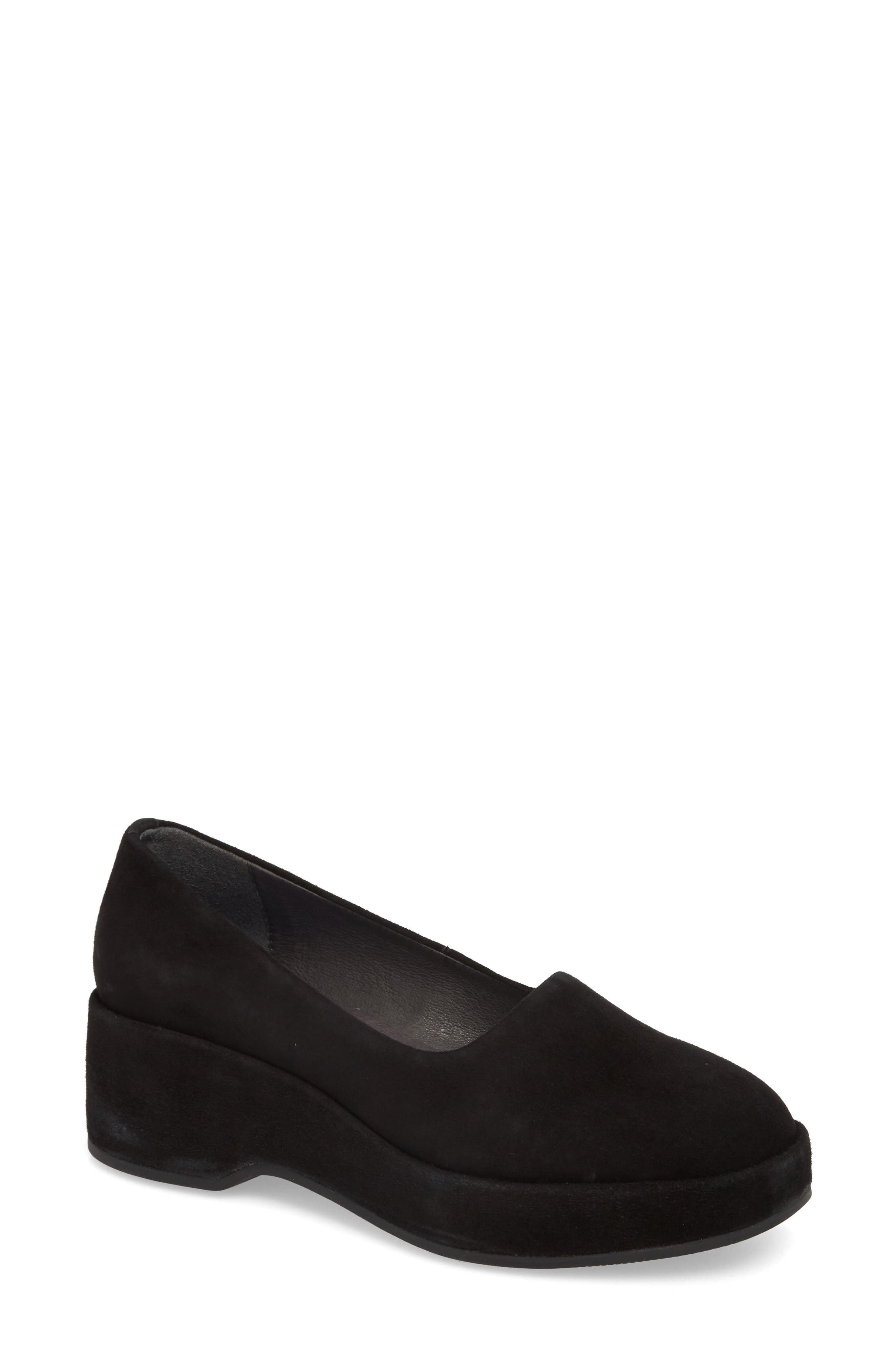 Sisea Platform Shoe,                             Main thumbnail 1, color,                             BLACK LEATHER