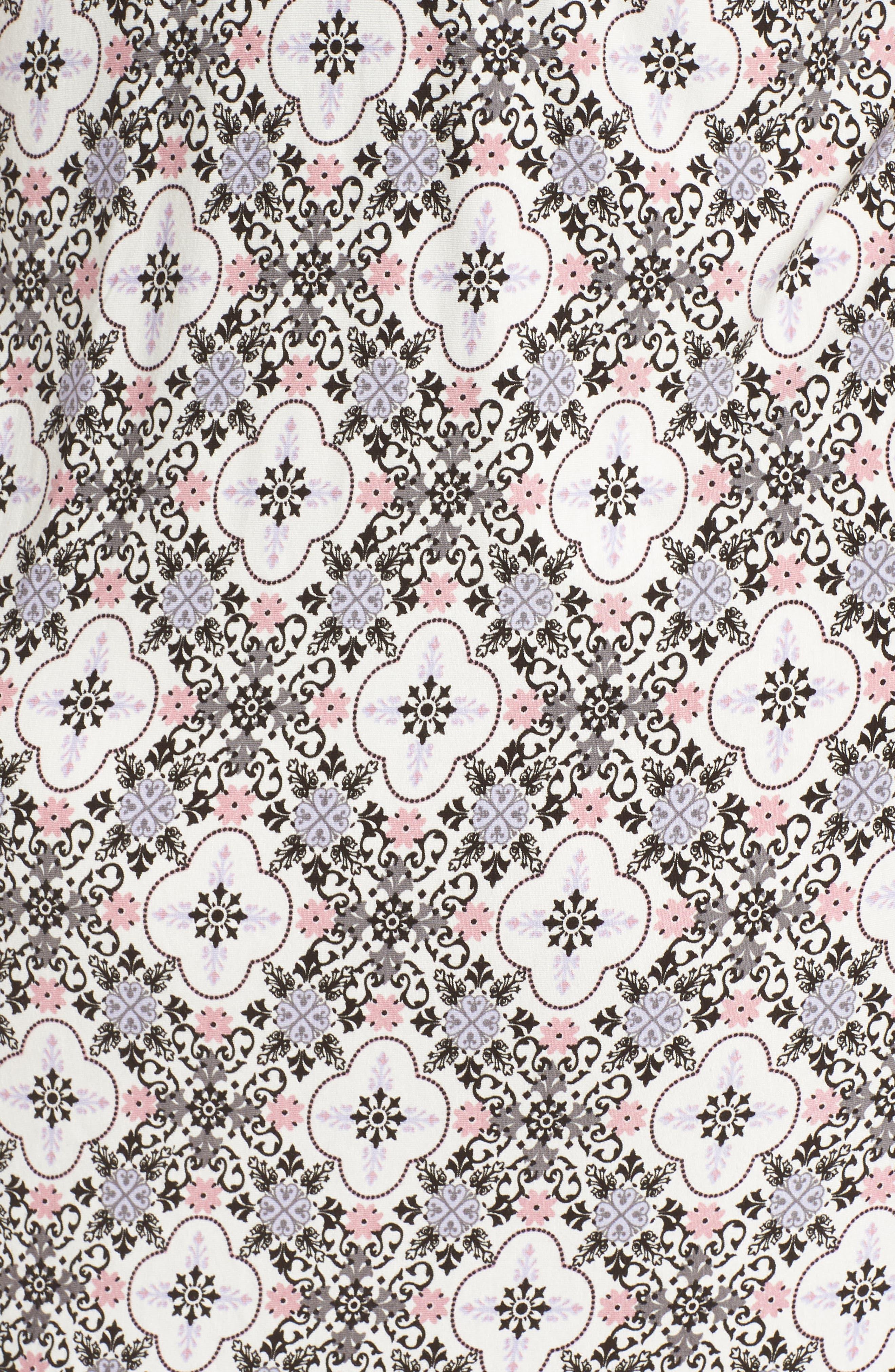 Lace Trim Racerback Chemise,                             Alternate thumbnail 5, color,                             901