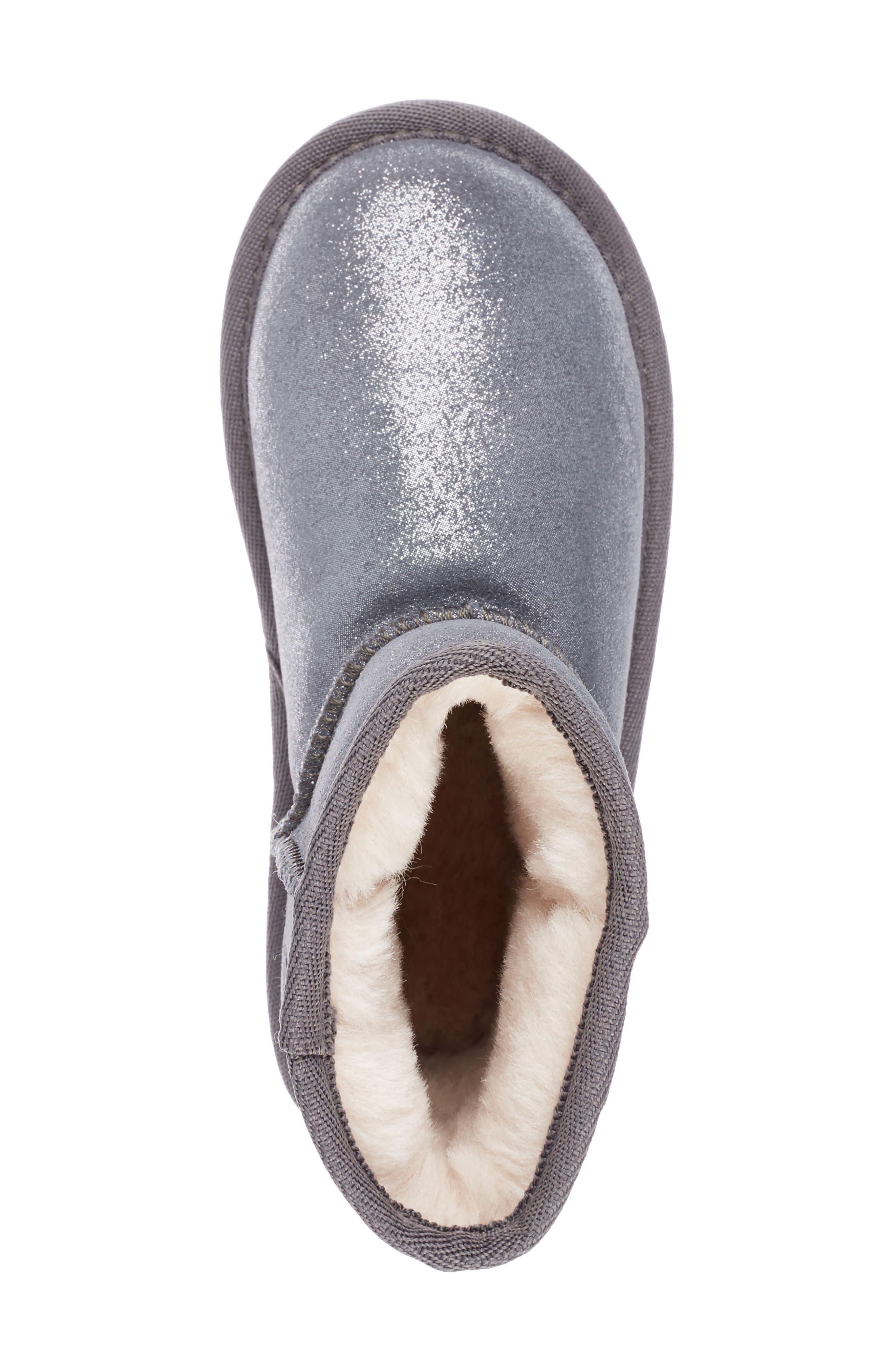 Wallaby Boot,                             Alternate thumbnail 5, color,                             METALLIC CHARCOAL
