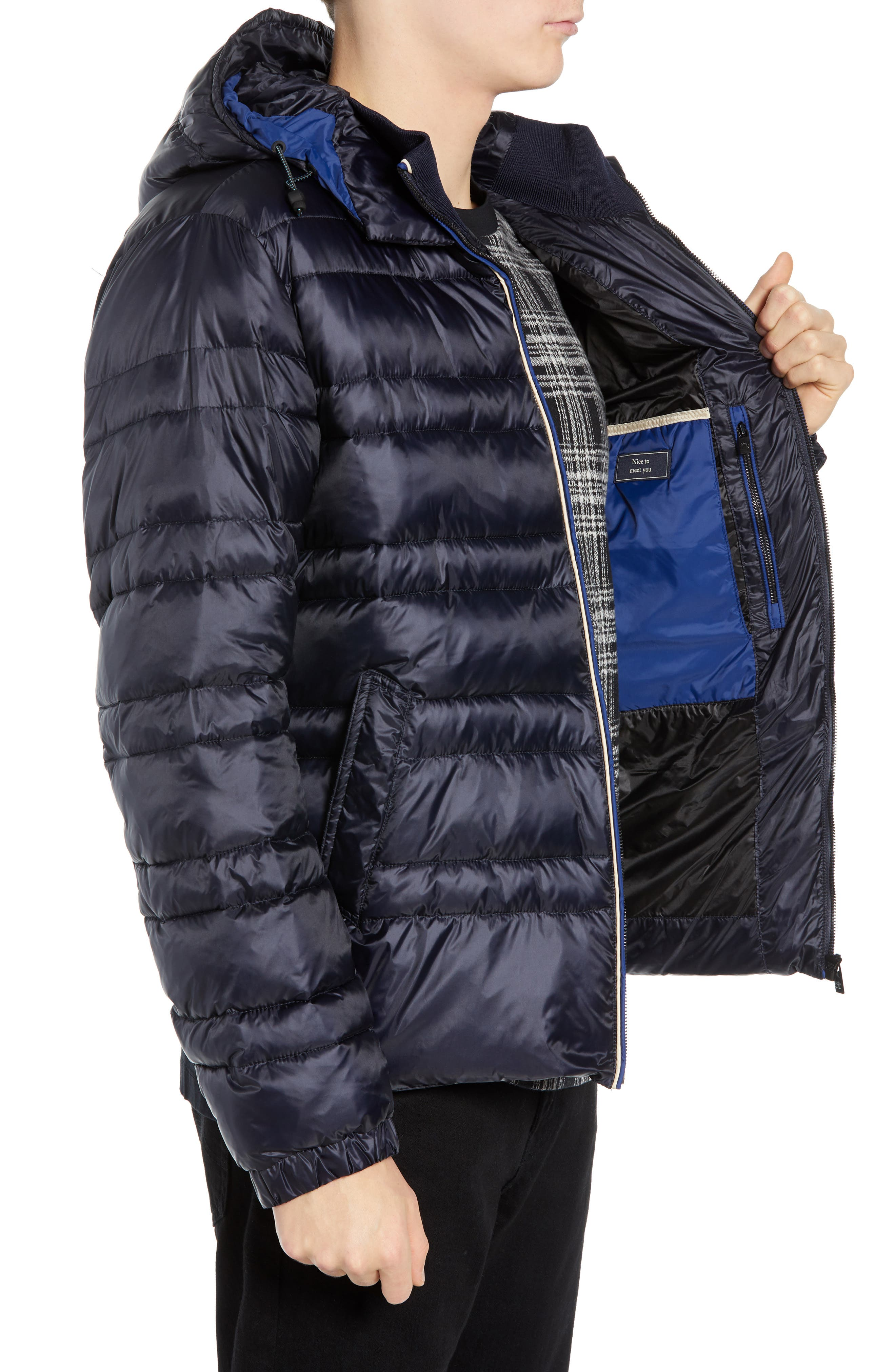 Quilted Puffer Jacket,                             Alternate thumbnail 3, color,                             NIGHT