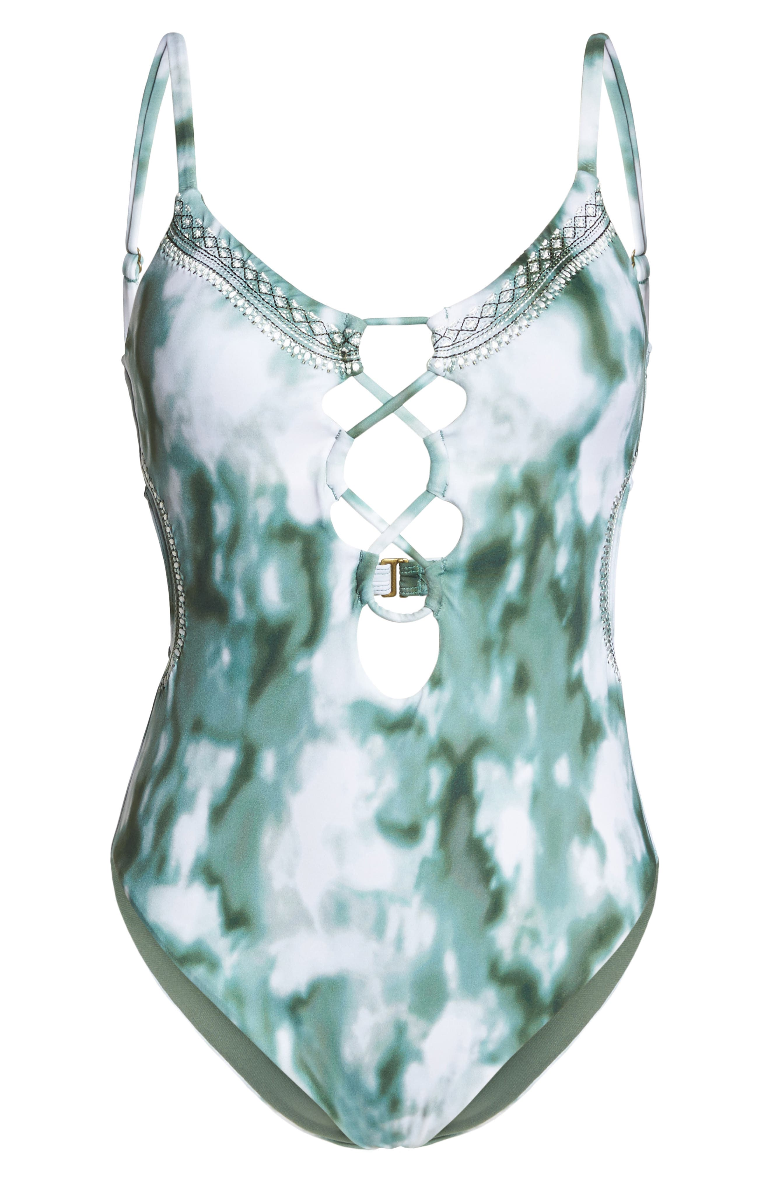 Indian Summer One-Piece Swimsuit,                             Alternate thumbnail 6, color,                             302