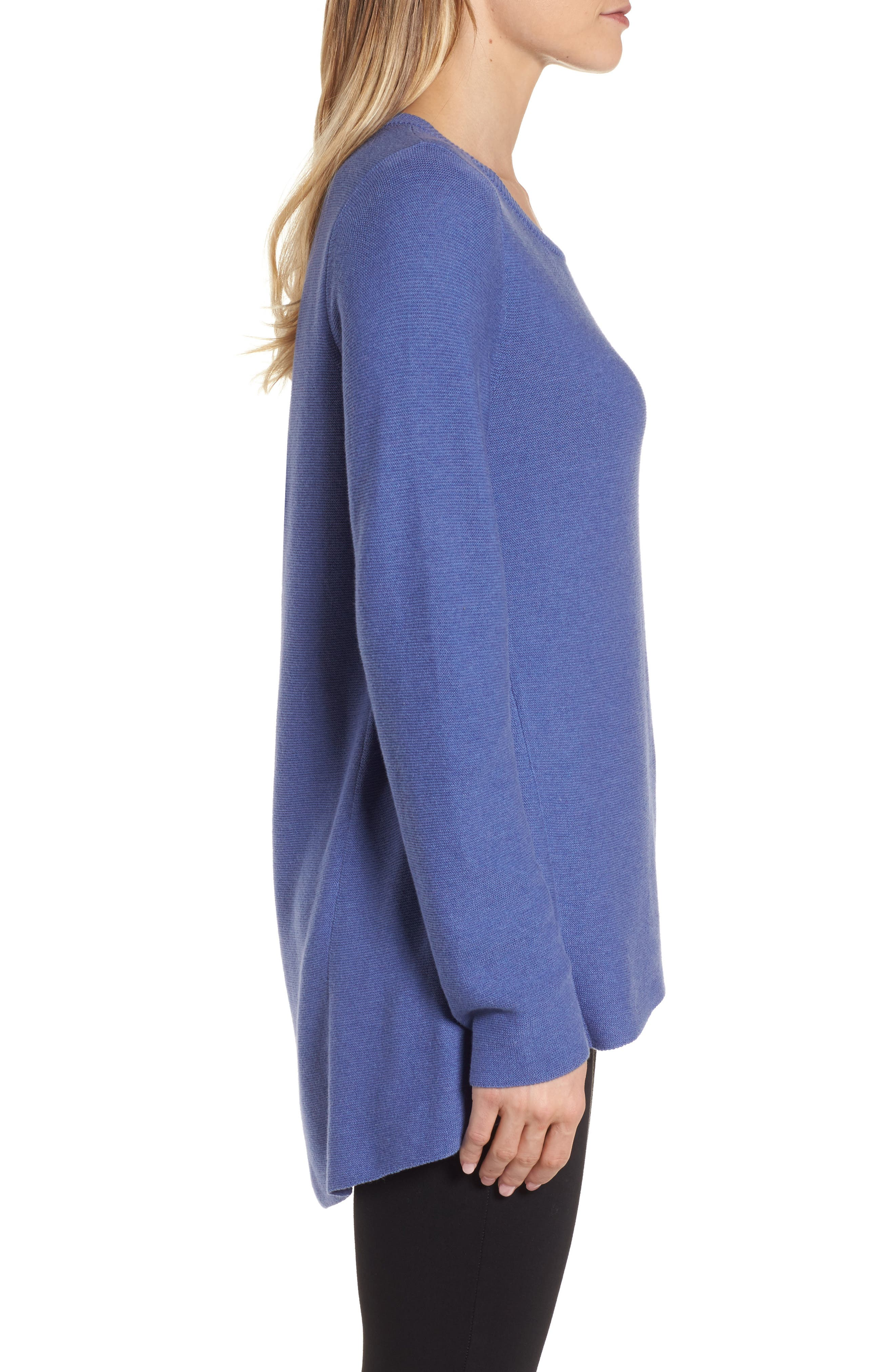 Organic Cotton Tunic Sweater,                             Alternate thumbnail 8, color,