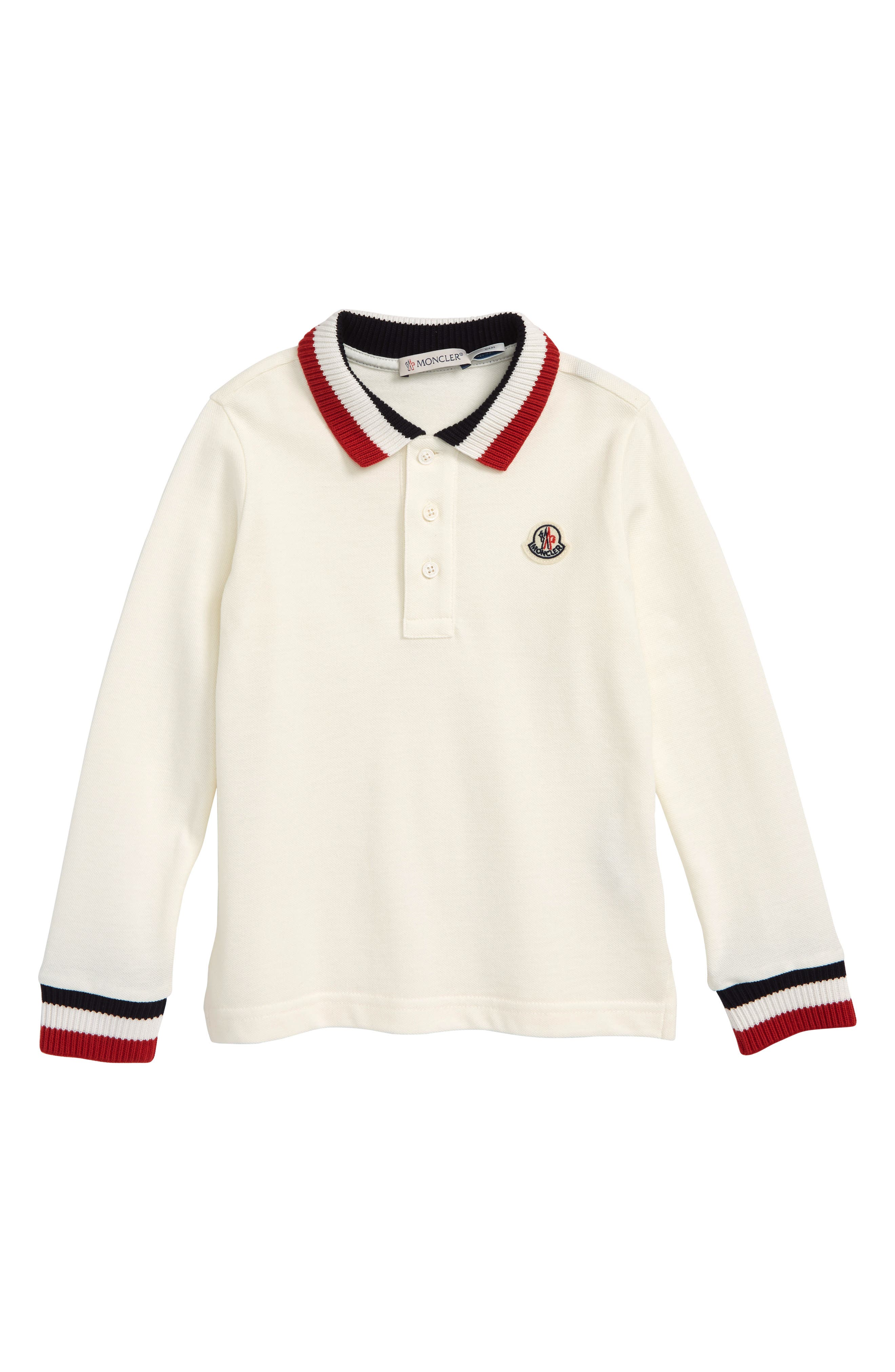 Ribbed Polo,                             Main thumbnail 1, color,                             WHITE