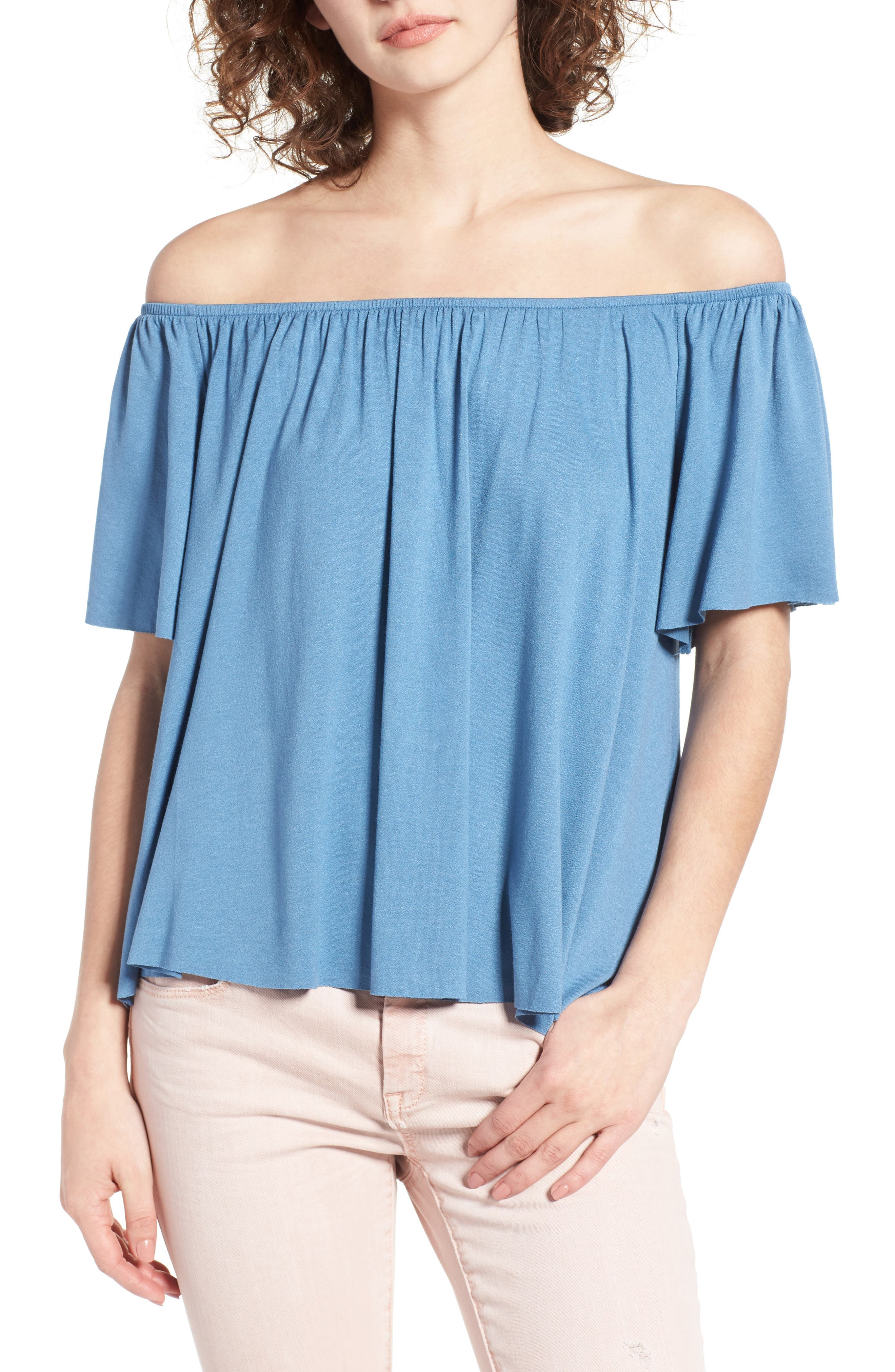 Off the Shoulder Top,                             Main thumbnail 6, color,