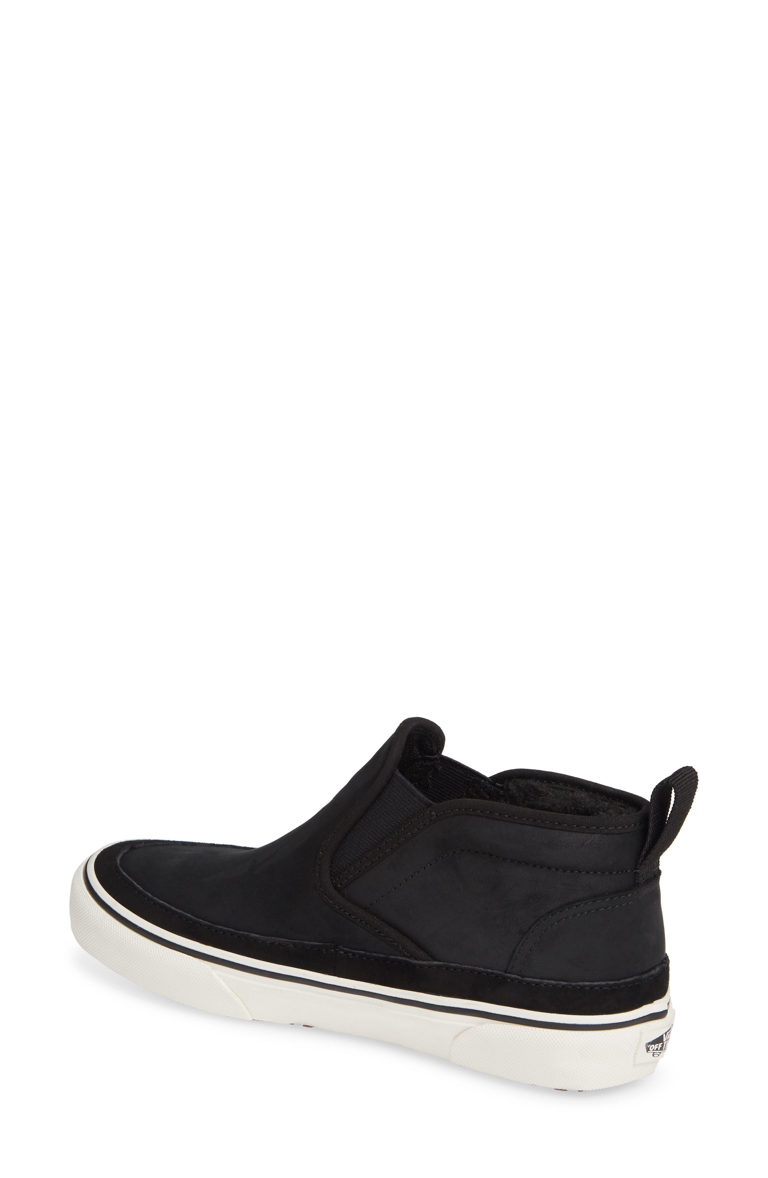 UA Authentic MTE Slip-On Sneaker,                             Alternate thumbnail 2, color,                             BLACK/ MARSHMALLOW